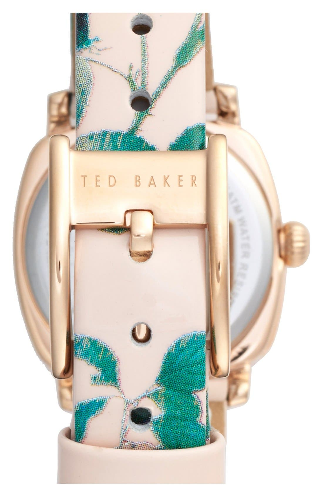 Alternate Image 2  - Ted Baker London 'Mini Jewels' Patent Leather Strap Watch, 26mm