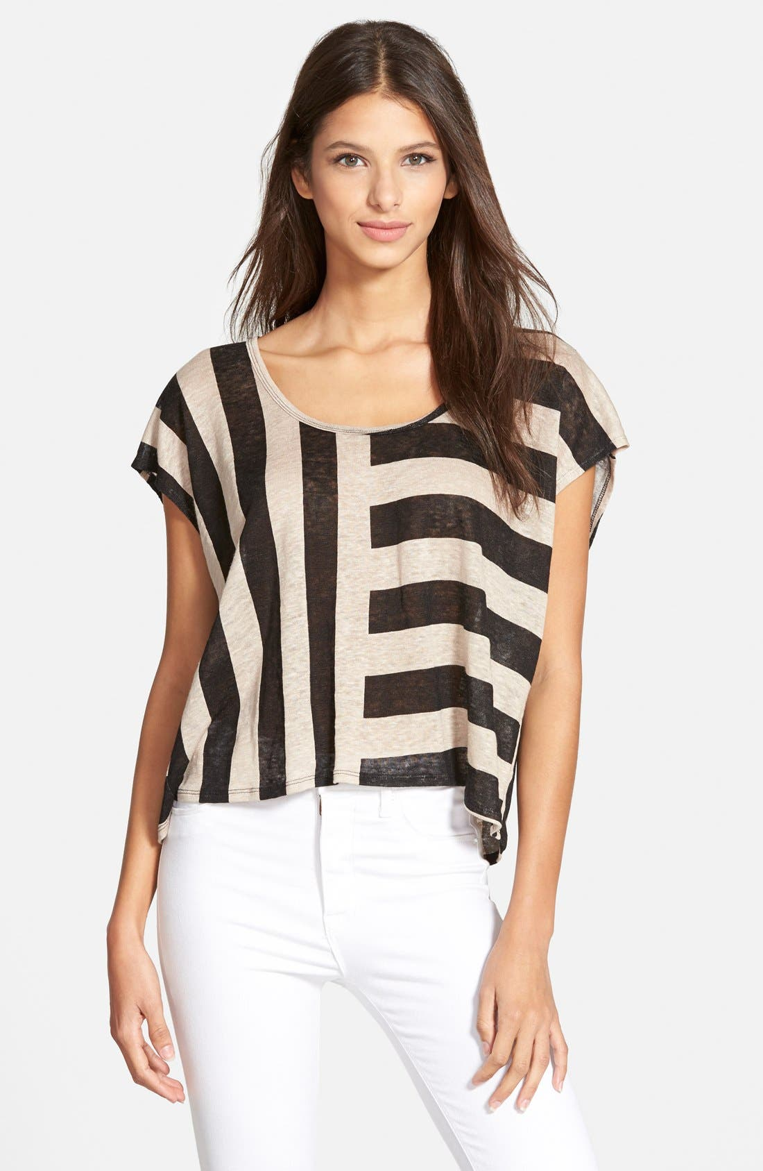 Alternate Image 1 Selected - Plenty by Tracy Reese Stripe Linen Tee
