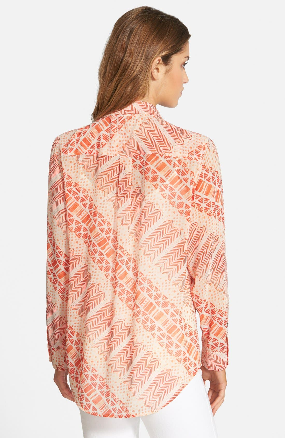 Alternate Image 2  - Two by Vince Camuto Print Utility Shirt (Regular & Petite)