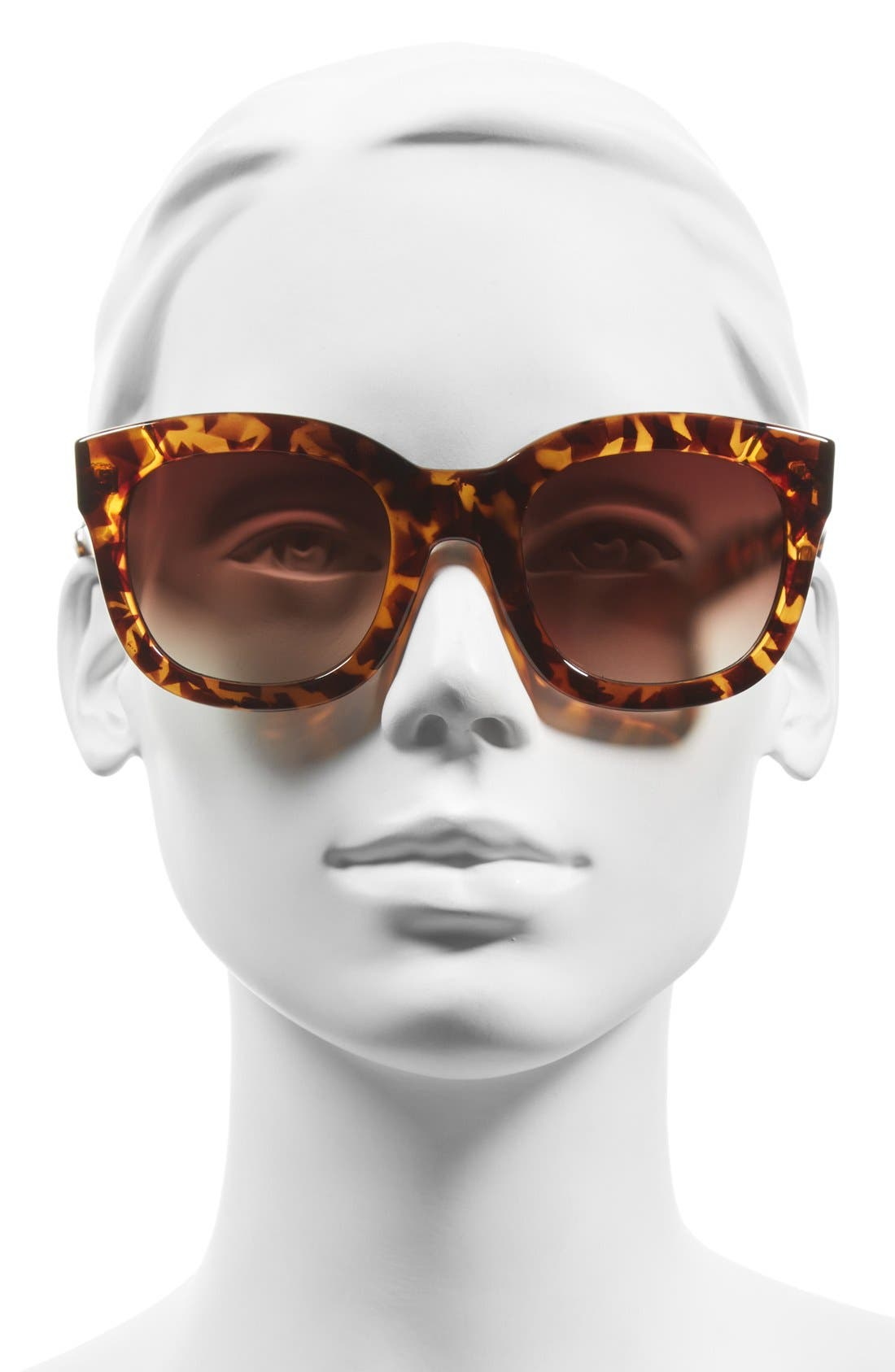 'Feline' 54mm Oversized Cat Eye Sunglasses,                             Alternate thumbnail 2, color,                             Tortoise