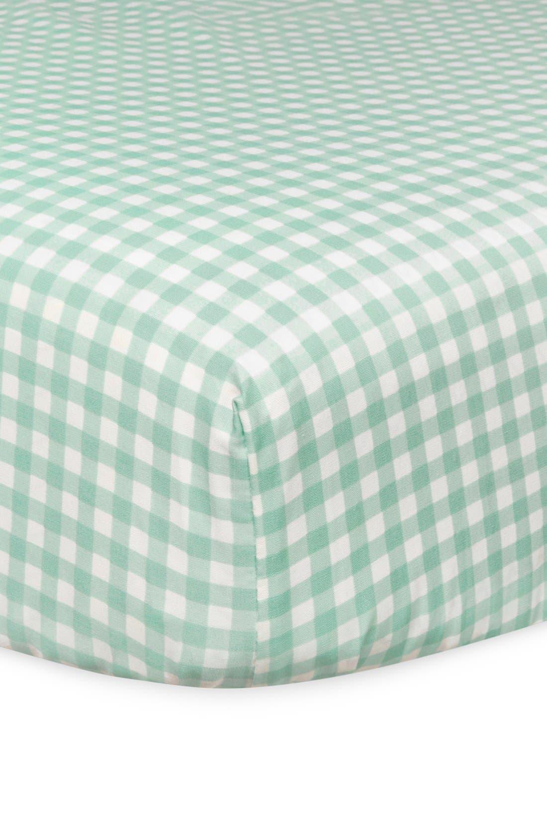 'Garden' Crib Sheet, Crib Skirt, Stroller Blanket & Wall Decals,                             Alternate thumbnail 5, color,                             Blue