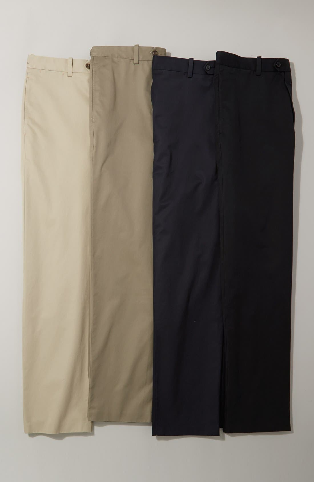 Alternate Image 4  - John W. Nordstrom® Smartcare™ Flat Front Supima® Cotton Pants