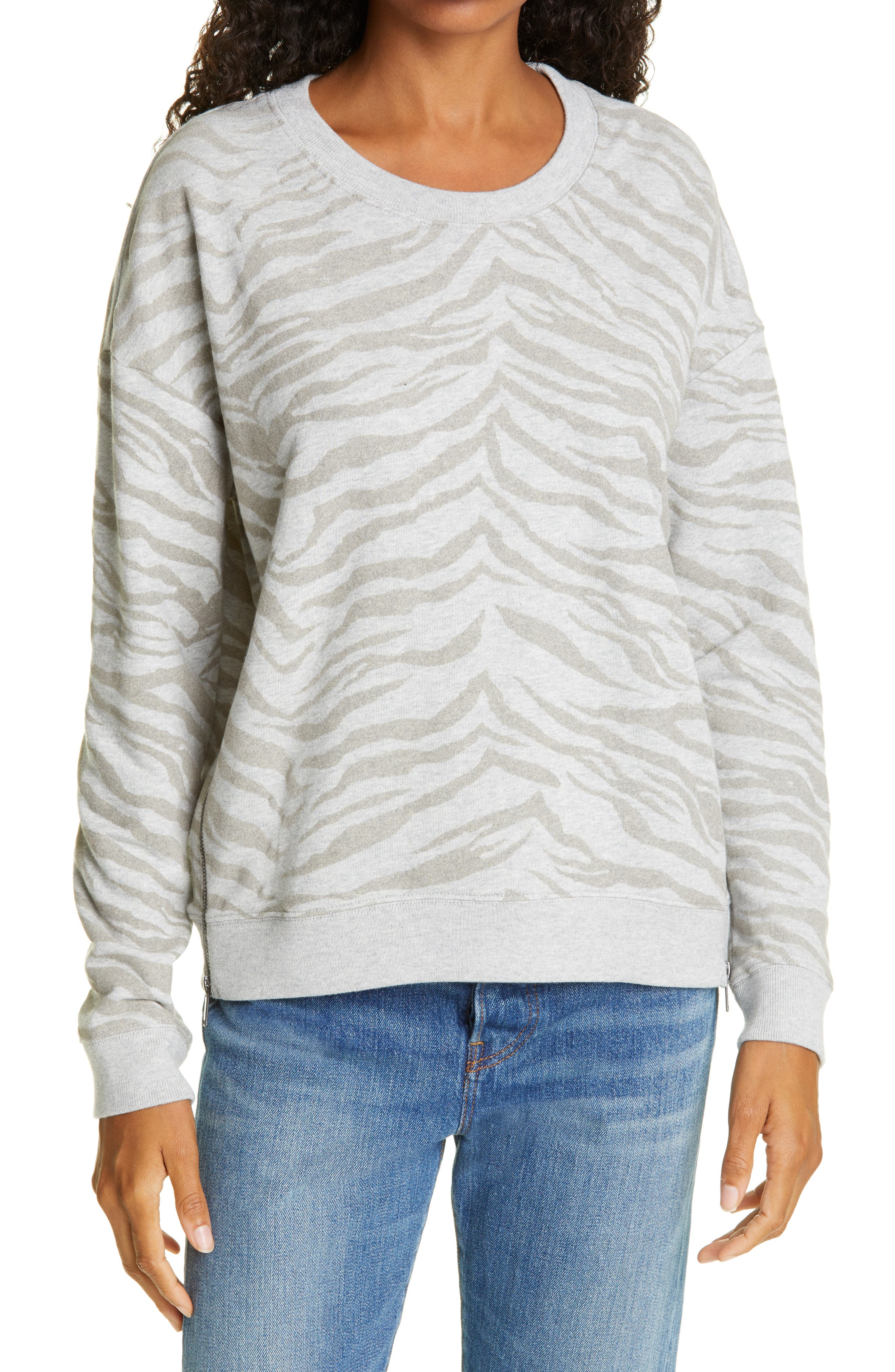 Spotted Zebra Long-Sleeve Cozy Tunic Tops Fille