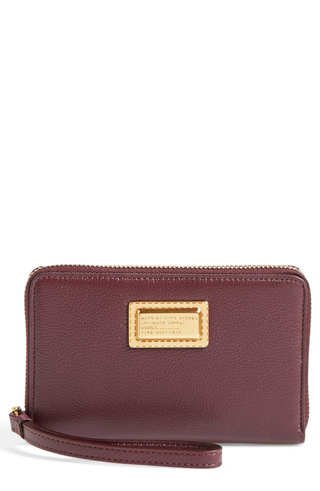 MARC BY MARC JACOBS 'Take Your Marc - Wingman' Smartphone Wristlet,                         Main,                         color, Cardamom