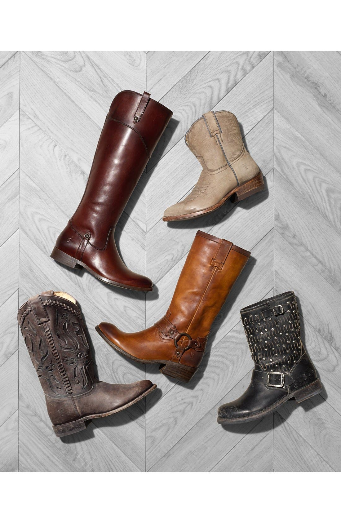 'Carson Harness' Western Mid Calf Riding Boot,                             Alternate thumbnail 5, color,