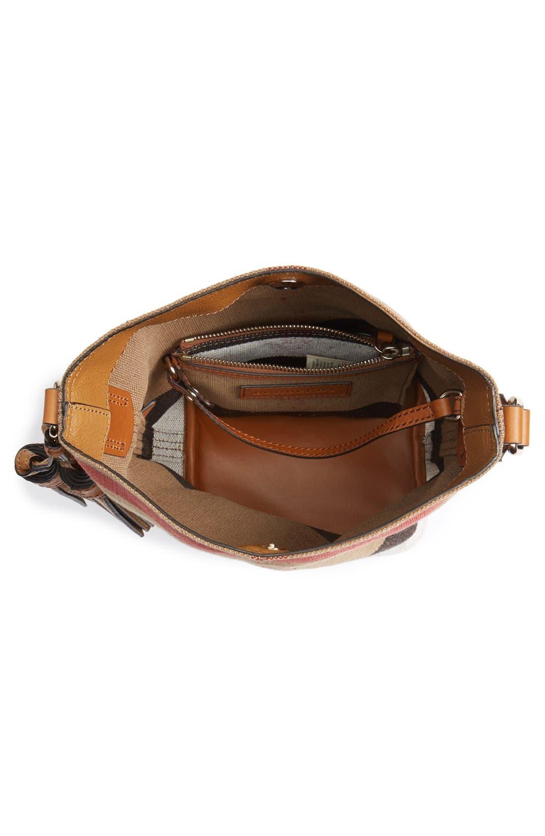 Alternate Image 4  - Burberry Brit 'Mini Ashby' Canvas Check Crossbody Bucket Bag