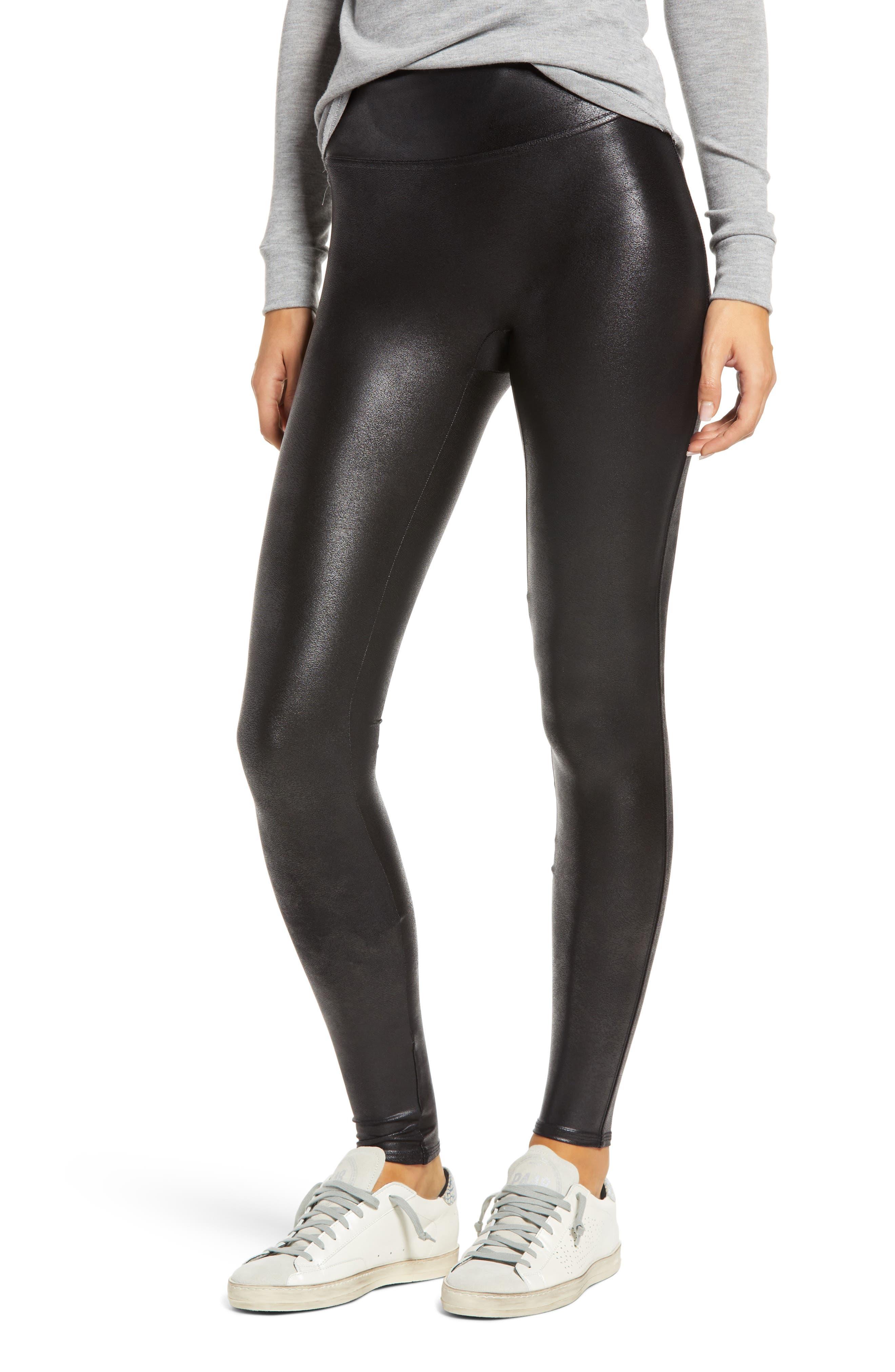Oak Vegan Leather Pant Black