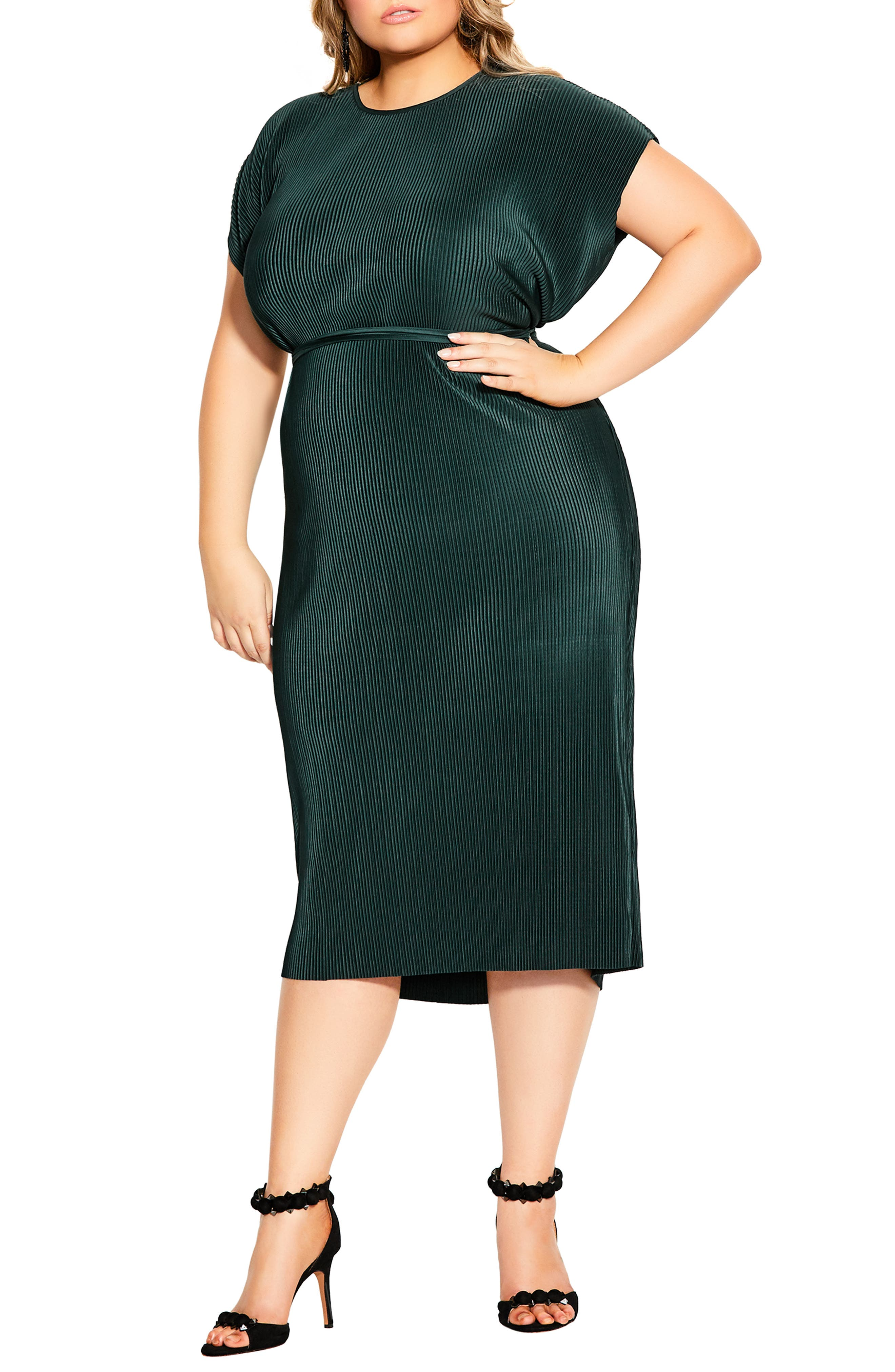 BPQ/_W Plus Size Cotton Dress for Womens Round Neck Short Sleeve Boho Print Loose Knee-Length Dress