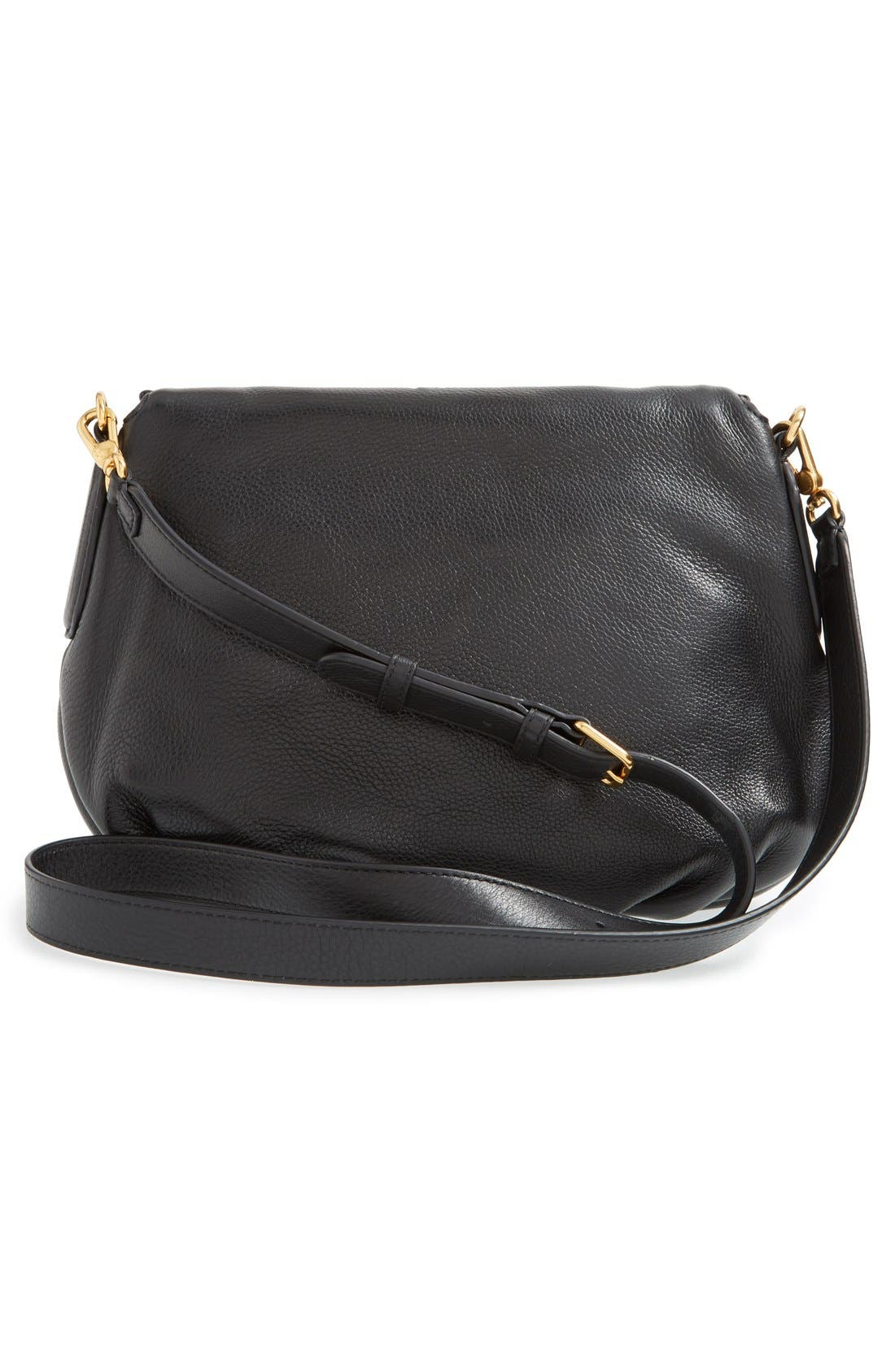 MARC BY MARC JACOBS 'New Q - Natasha' Crossbody Bag,                             Alternate thumbnail 3, color,                             Black