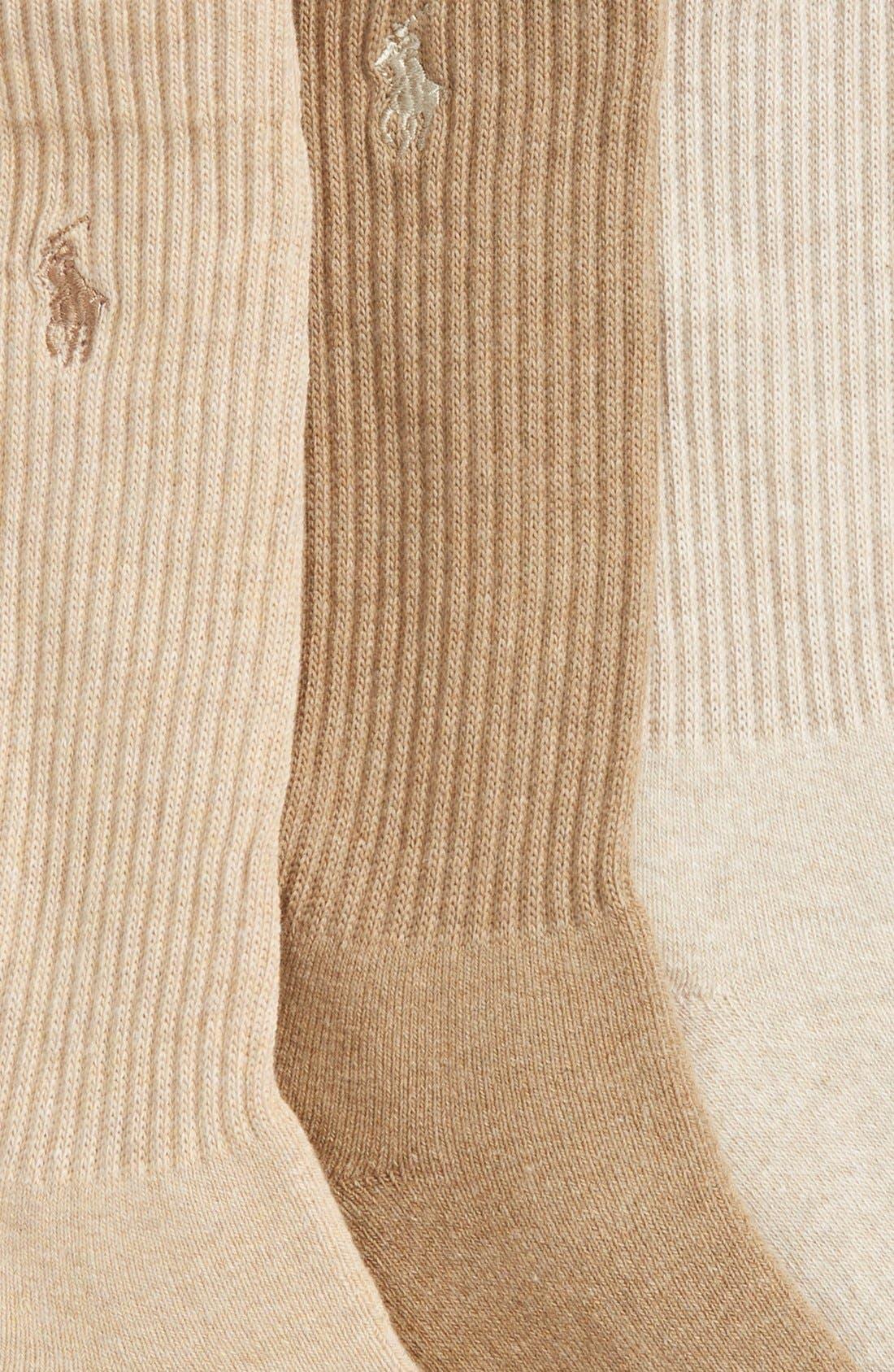 Alternate Image 2  - Polo Ralph Lauren 3-Pack Crew Socks