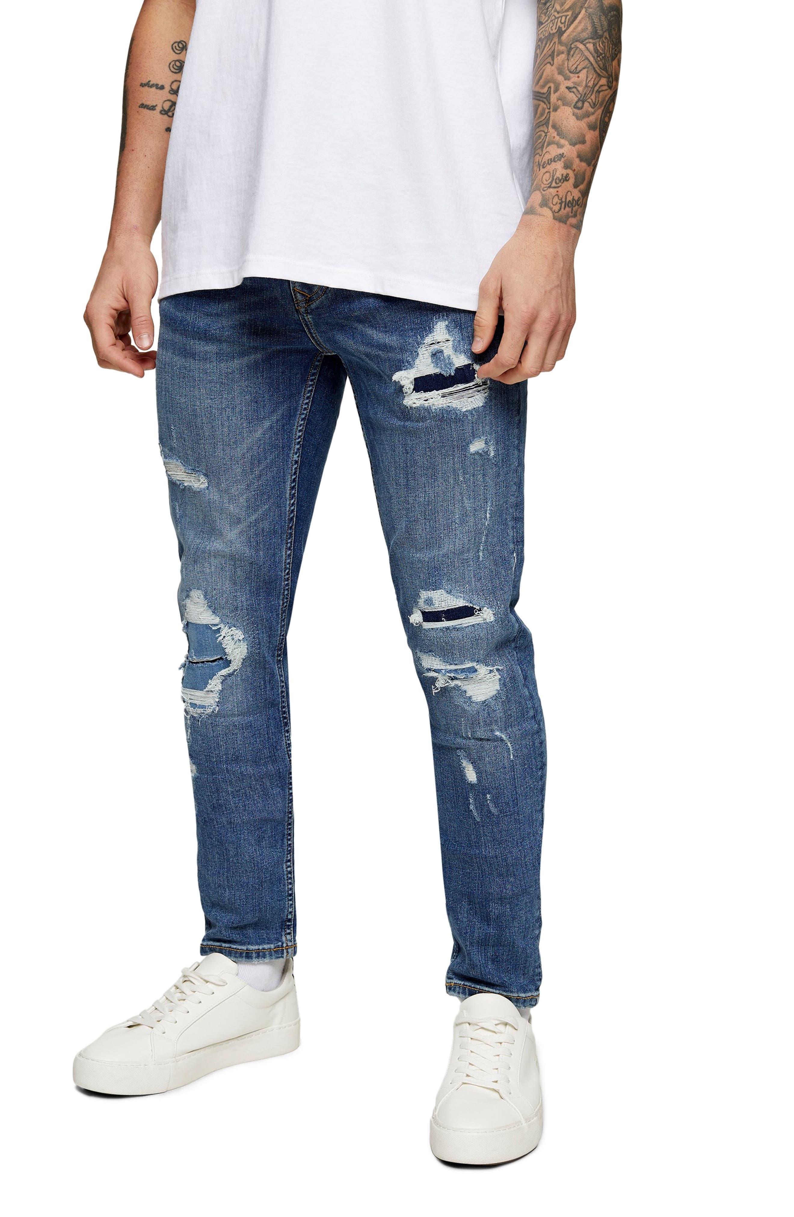 Mens Slim Fit Jeans Super Stretch Denim Pants Slim Skinny Casual Designer Jeans