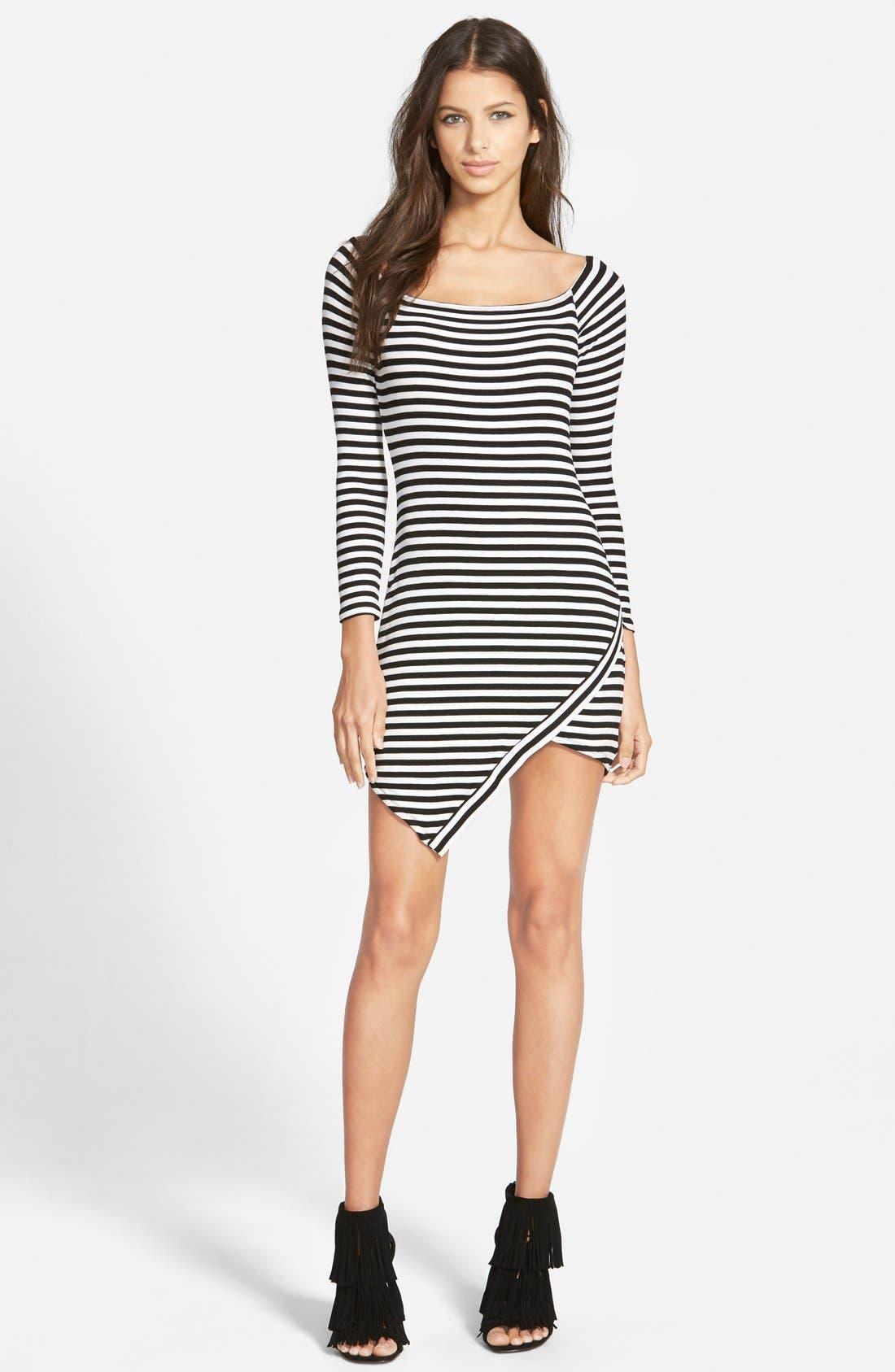 Main Image - Lovers + Friends 'Sweet' Stripe Body-Con Dress