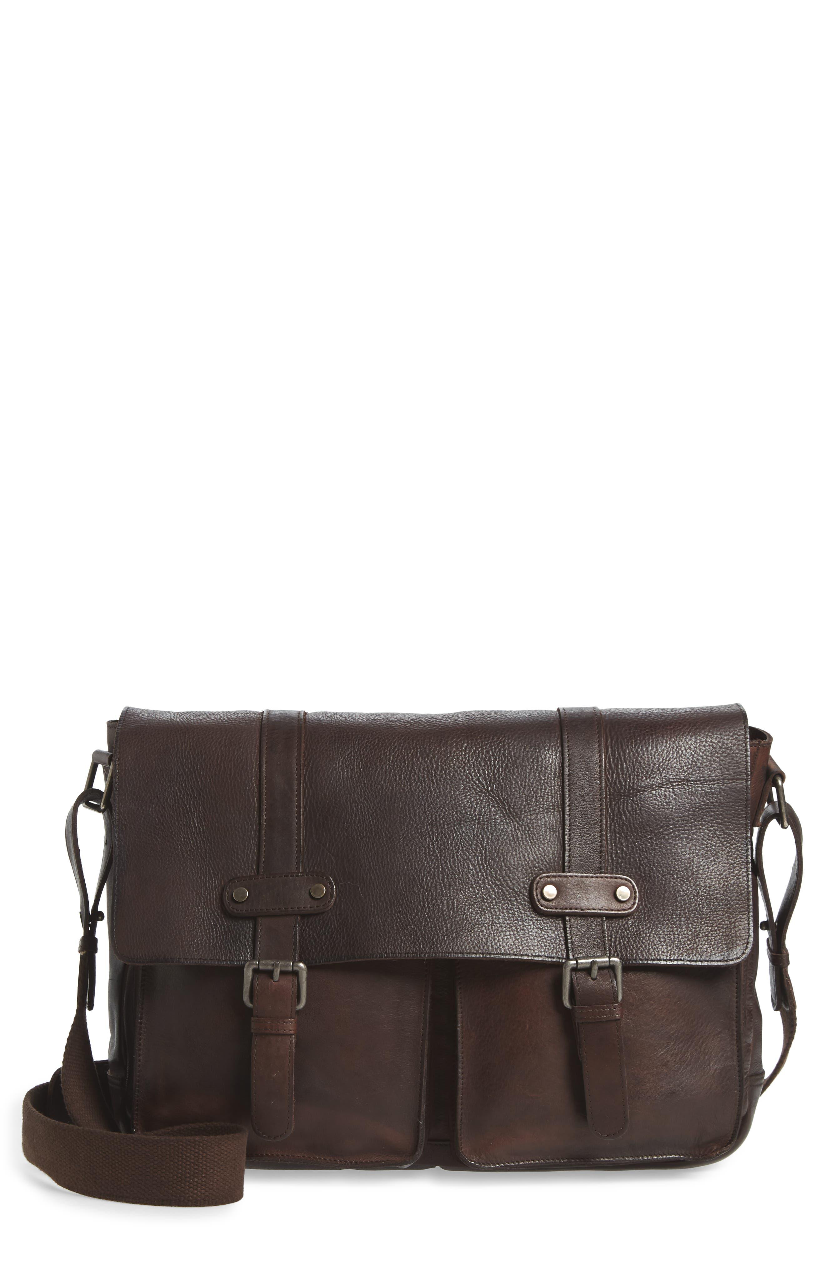 Women Ladies Men/'s Leather Messenger Bag Shoulder Crossbody Business Handbag New
