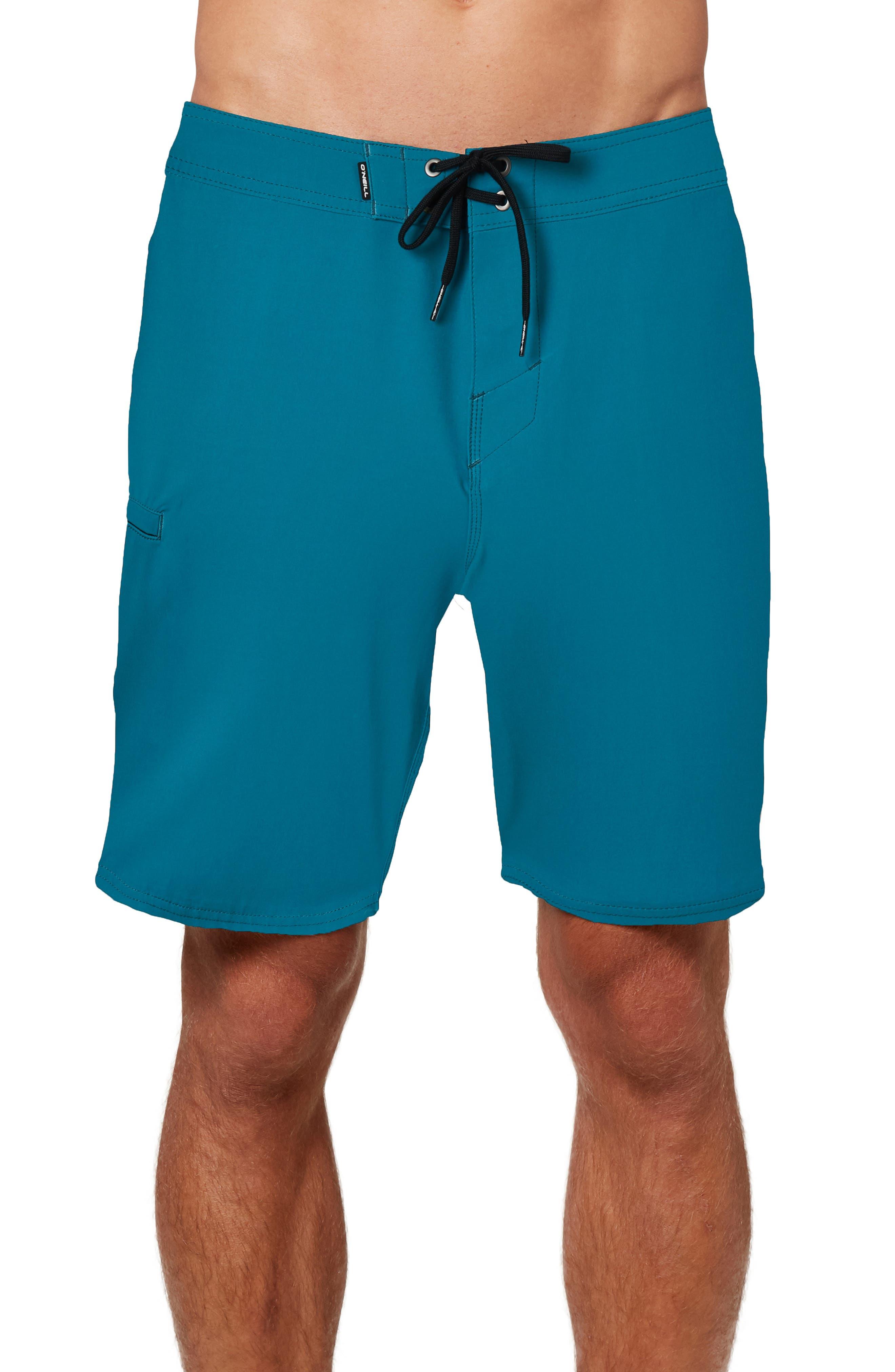 NEW Teal Cove Men/'s Stretch Hybrid Swim Board Shorts Bright Orange ALL SIZES
