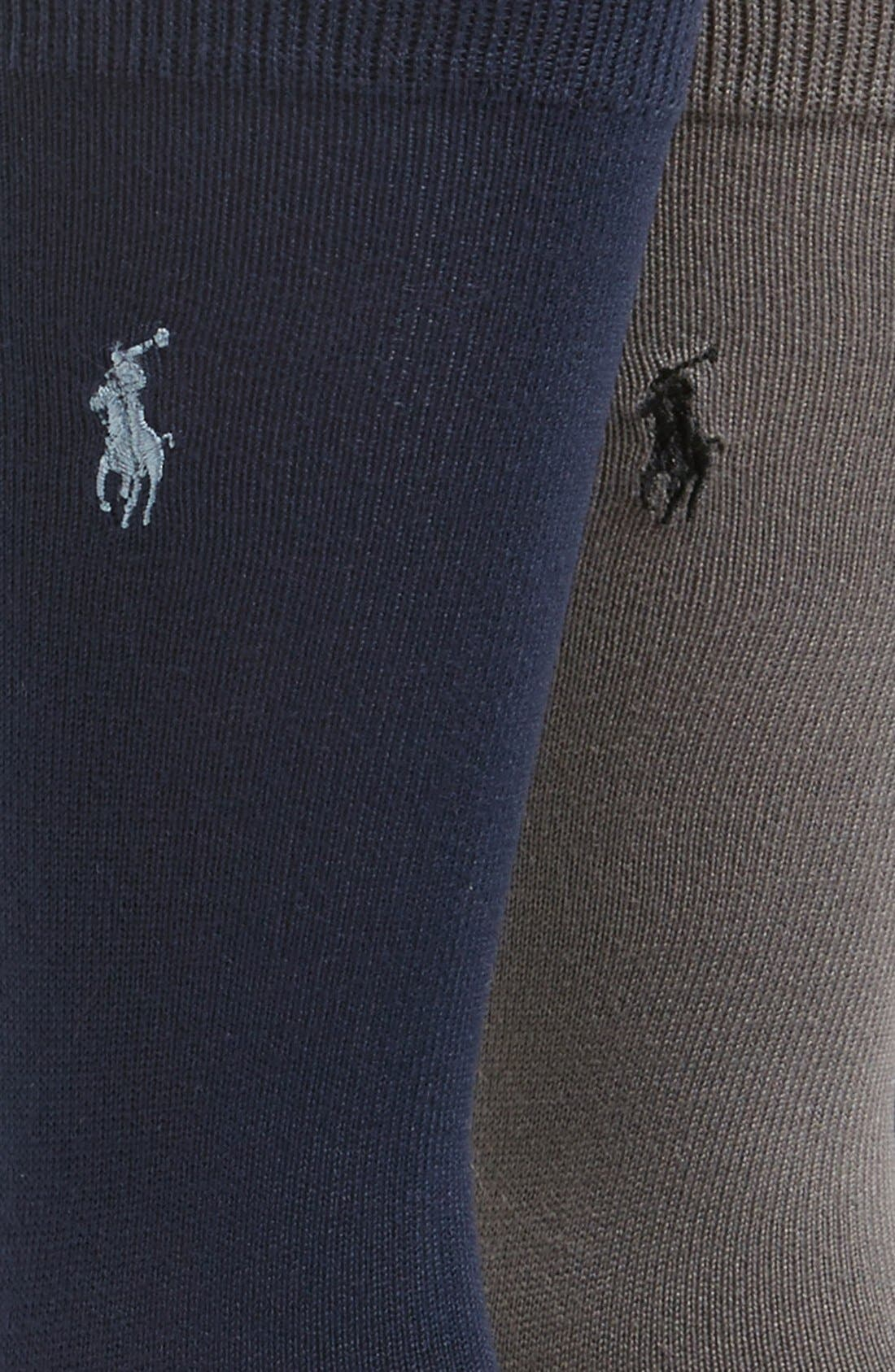 Alternate Image 2  - Polo Ralph Lauren Assorted 3-Pack Supersoft Socks