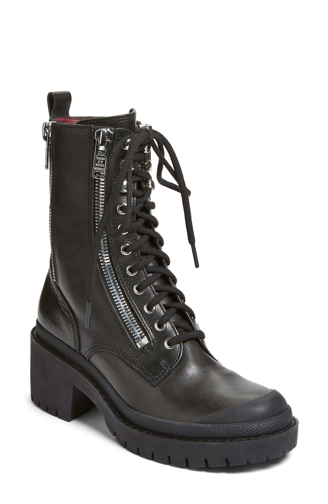 Alternate Image 1 Selected - MARC BY MARC JACOBS 'Zip It' Multi Zip Boot (Women)