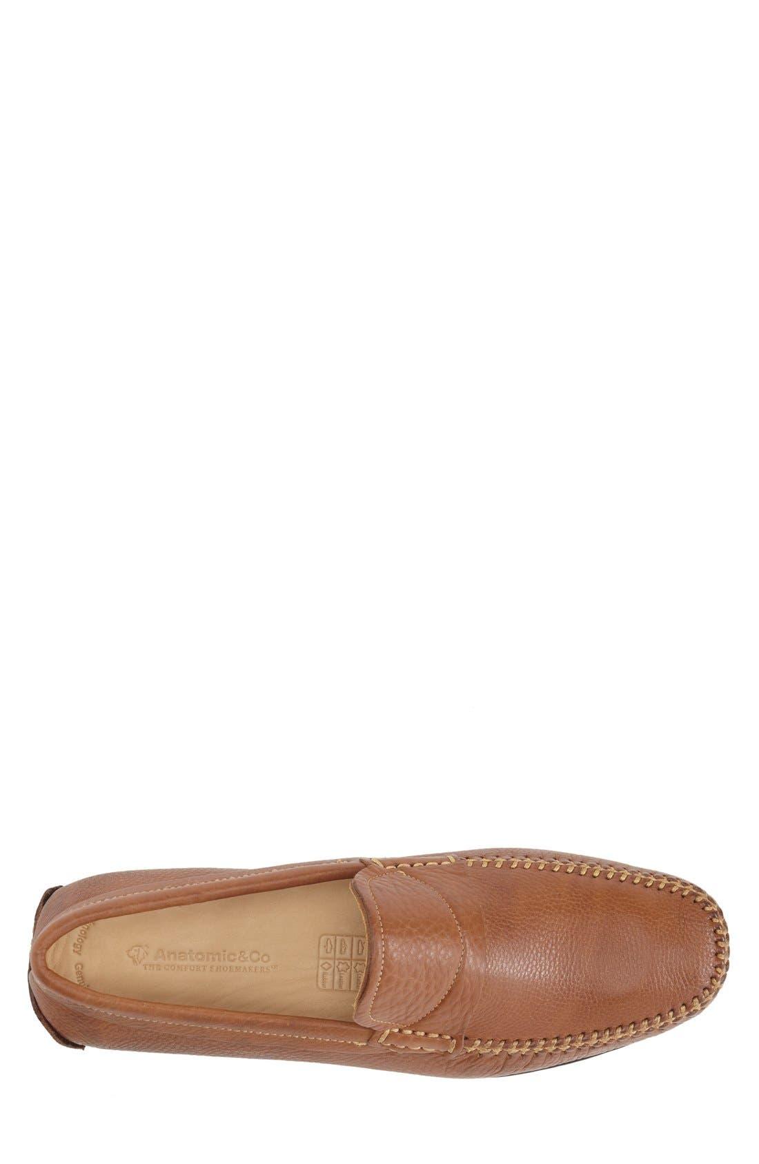 Olinda Driver,                             Alternate thumbnail 3, color,                             Cognac Leather