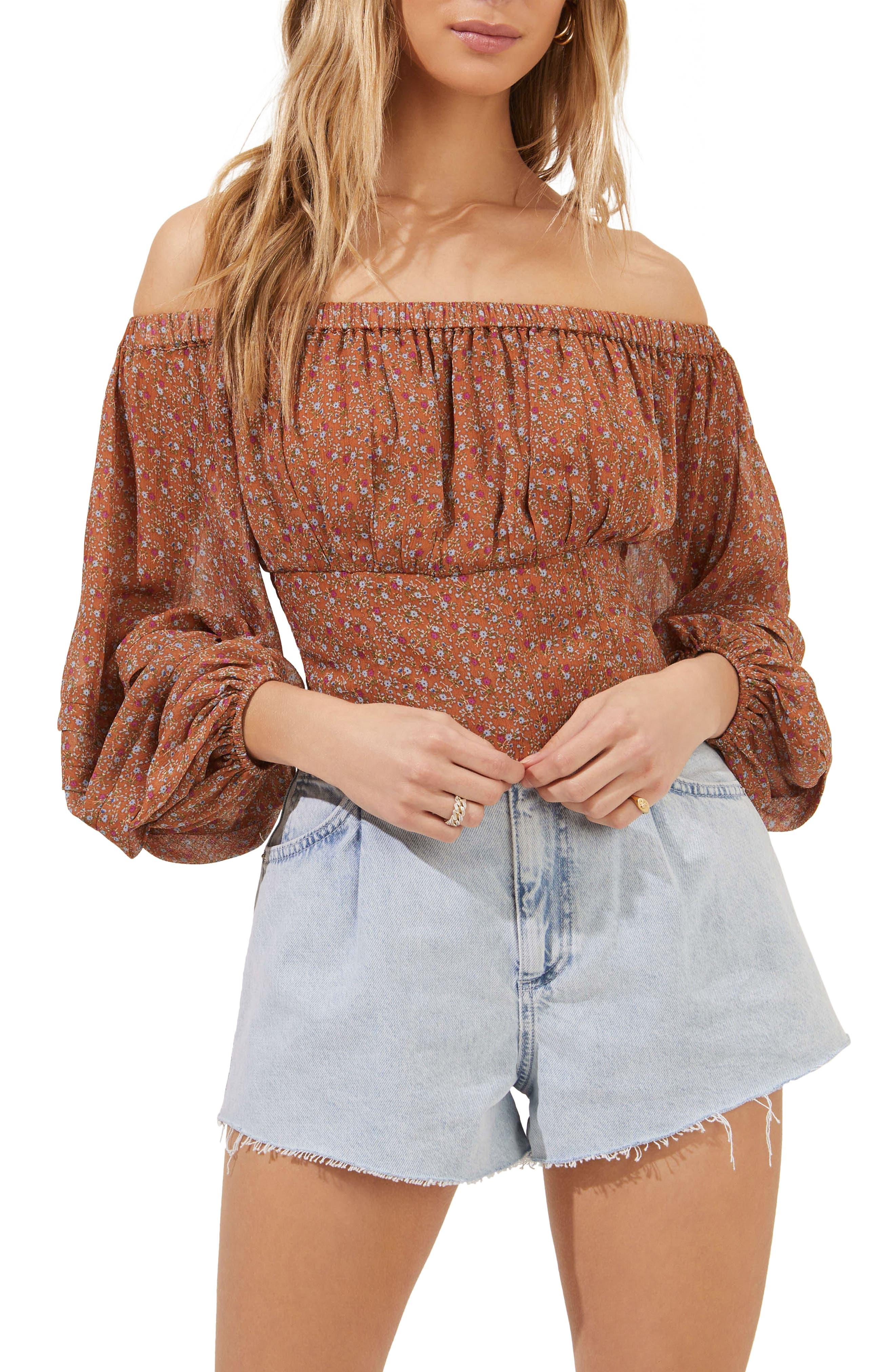 UK Women Short Sleeve T-Shirts Dot Print Tee Tops Girls Off Shoulder Crop Tops