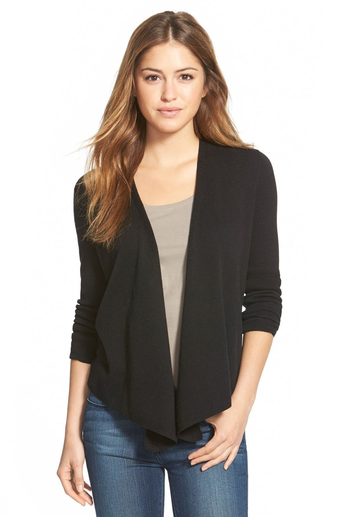 Alternate Image 1 Selected - NIC+ZOE 4-Way Convertible Three Quarter Sleeve Cardigan (Regular and Petite)