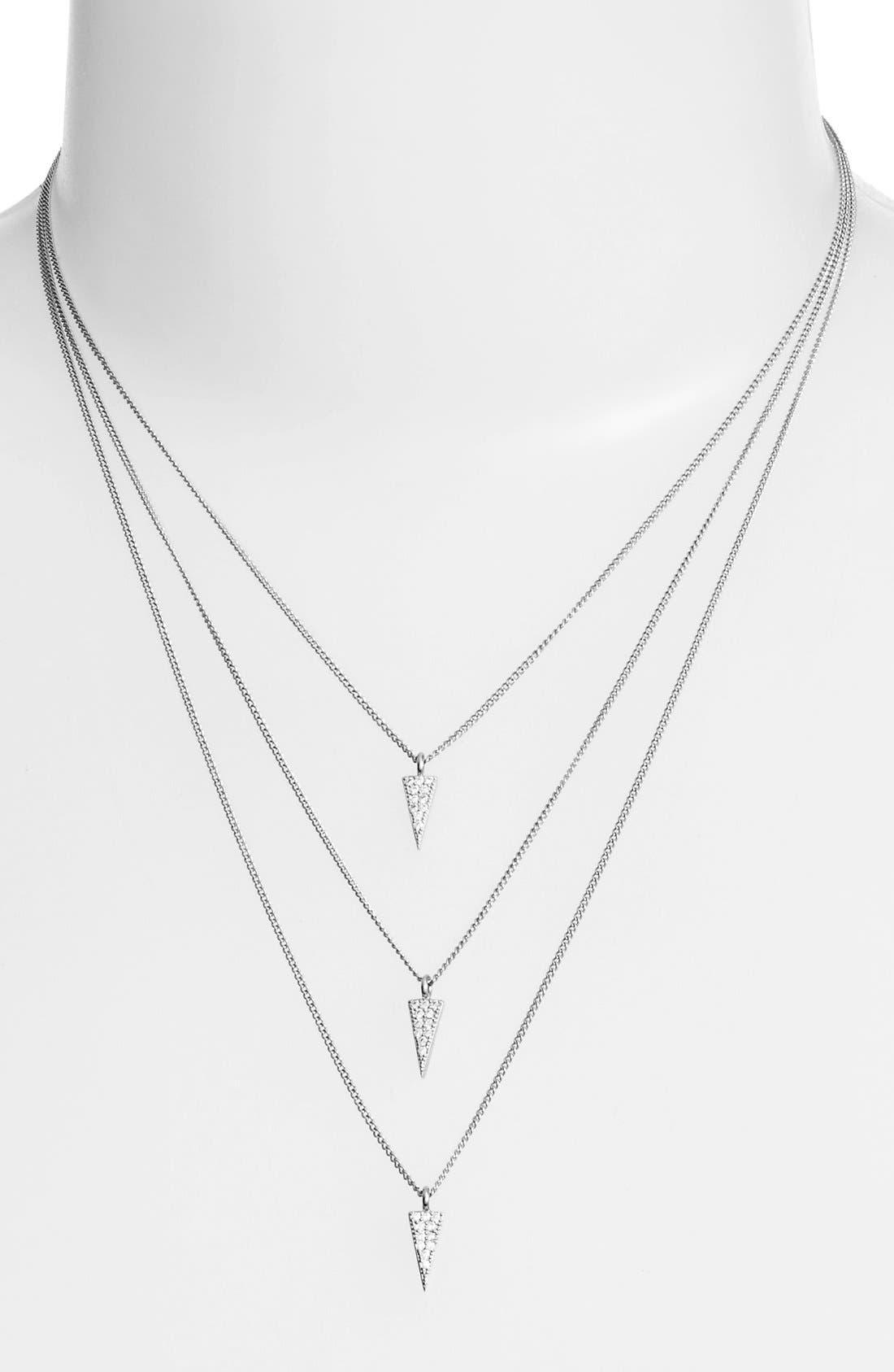 Alternate Image 1 Selected - Melanie AuldTriple Layer Pavé Pendant Necklace