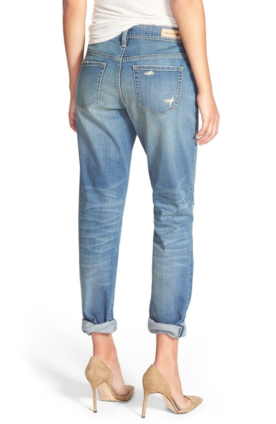 Alternate Image 3  - Treasure&Bond Boyfriend Jeans (Cross Light Tint)