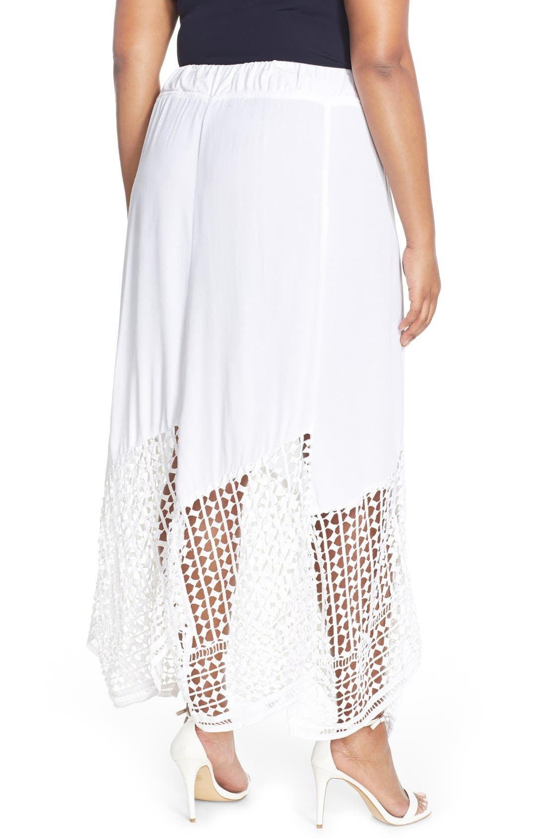 Alternate Image 2  - XCVI Wearables 'Lauryn' Lace Border Midi Skirt (Plus Size)