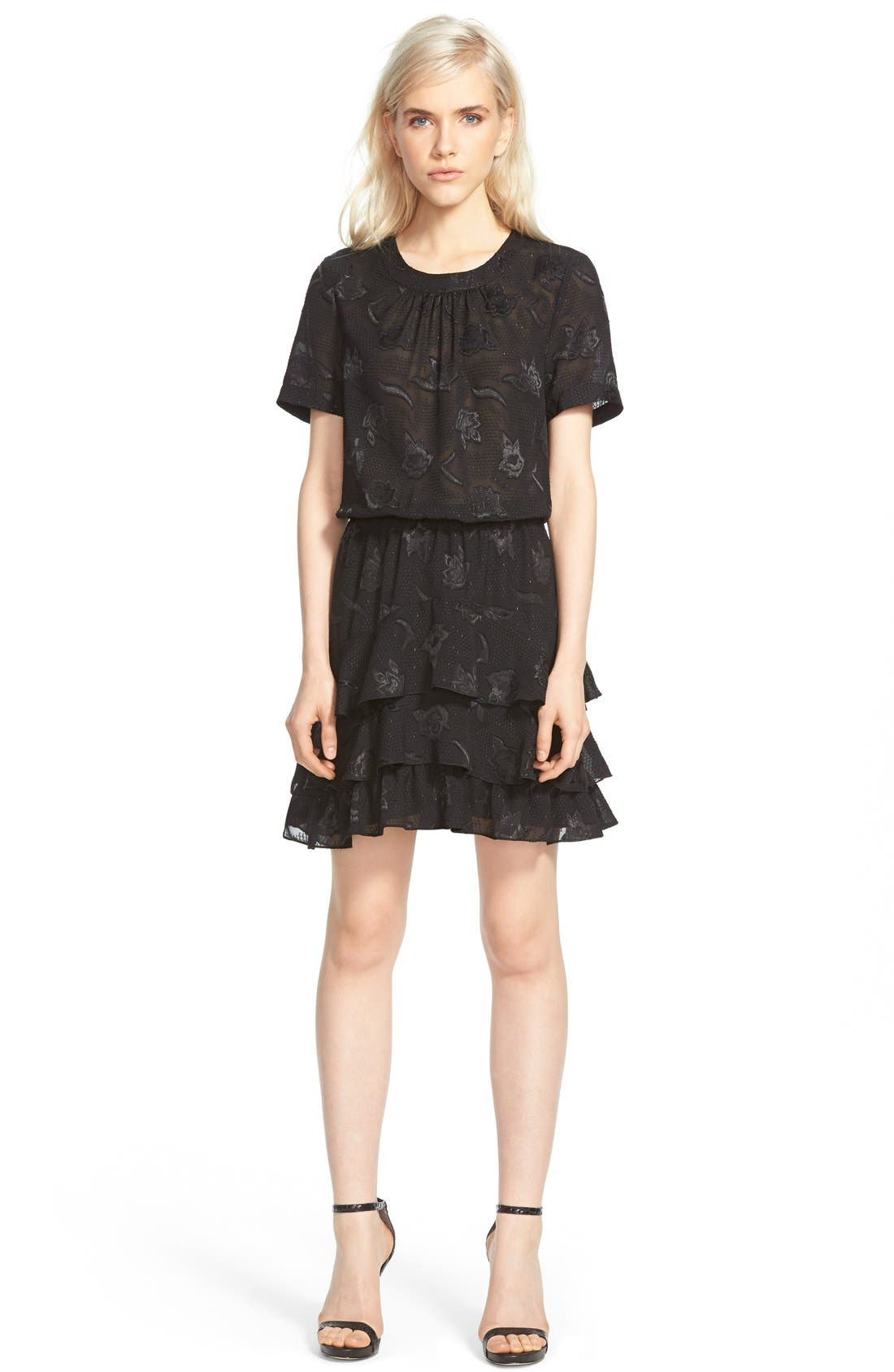 Alternate Image 1 Selected - cooper & ella 'Phoebe' Ruffle Blouson Dress