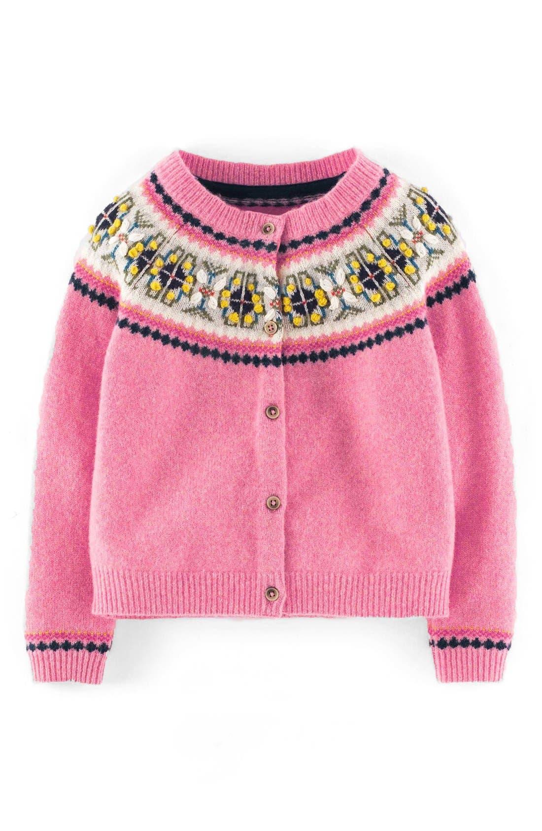 Mini Boden 'Fair Isle' Cardigan (Toddler Girls, Little Girls & Big ...