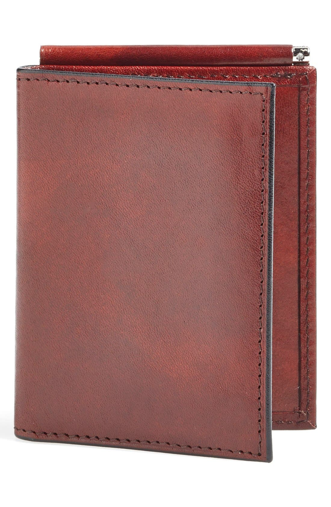 'Old Leather' Money Clip Wallet,                         Main,                         color, Dark Brown