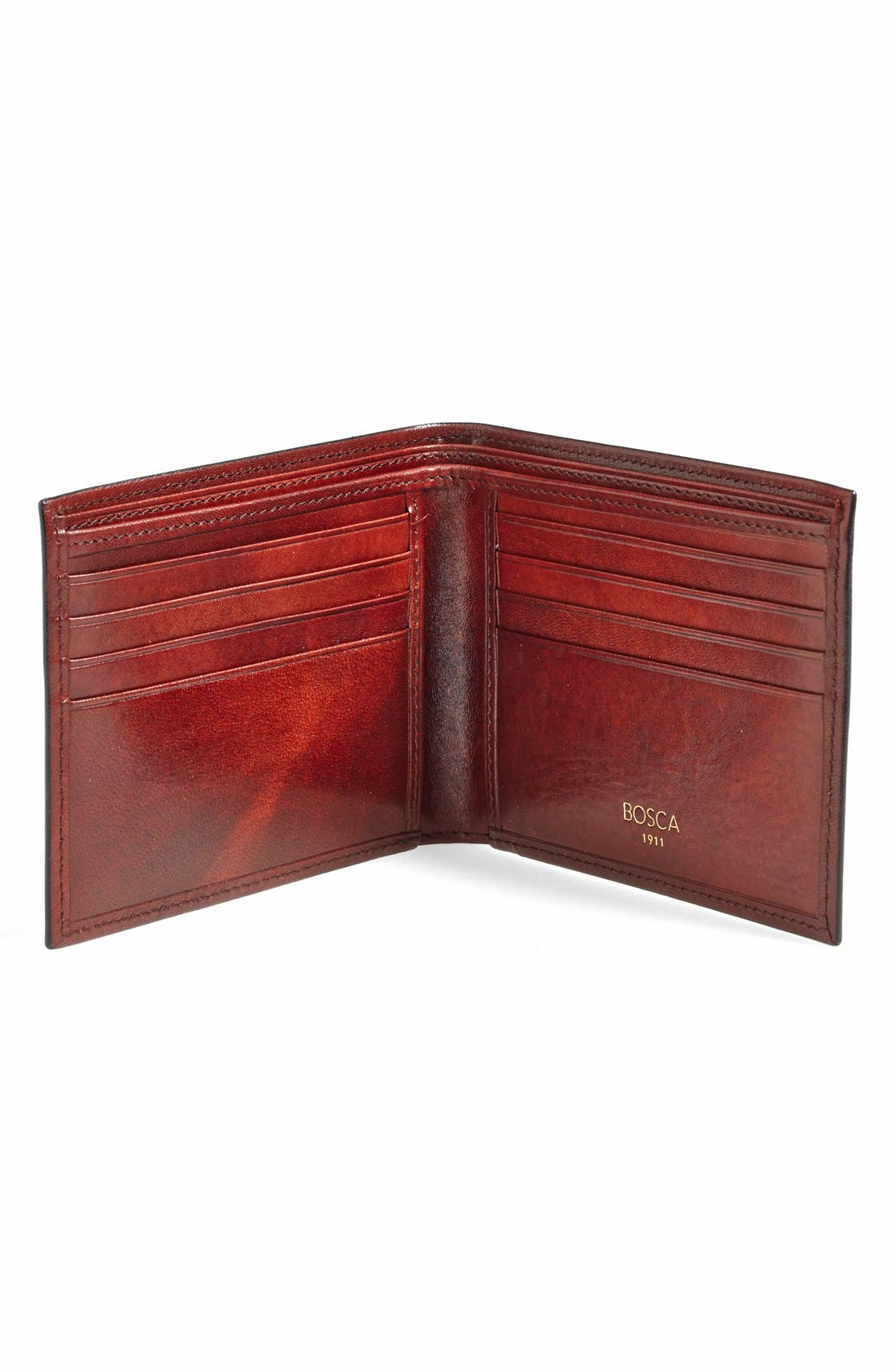 'Old Leather' Deluxe Wallet,                             Alternate thumbnail 2, color,                             Dark Brown
