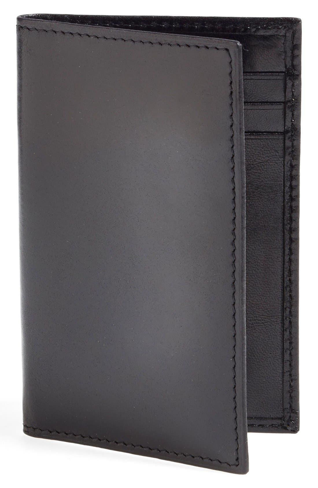 'Old Leather' Card Case,                         Main,                         color, Black