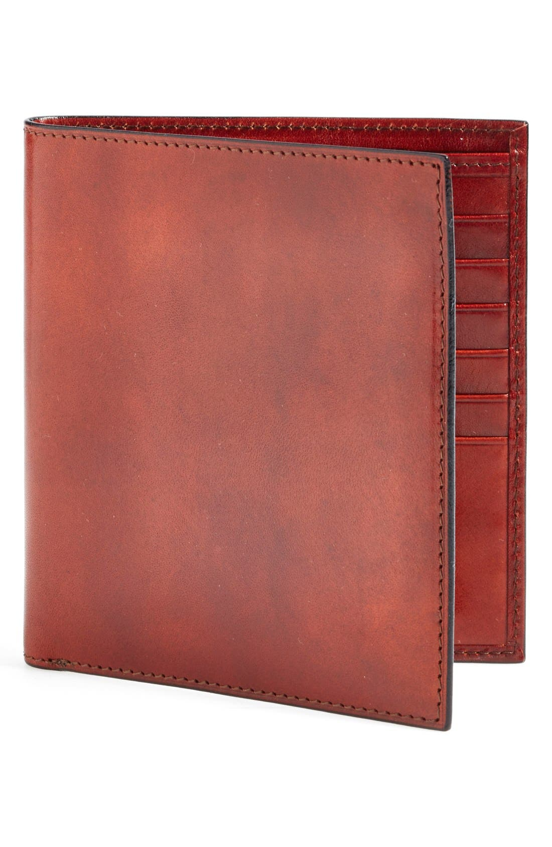 'Old Leather' Credit Wallet,                         Main,                         color, Cognac