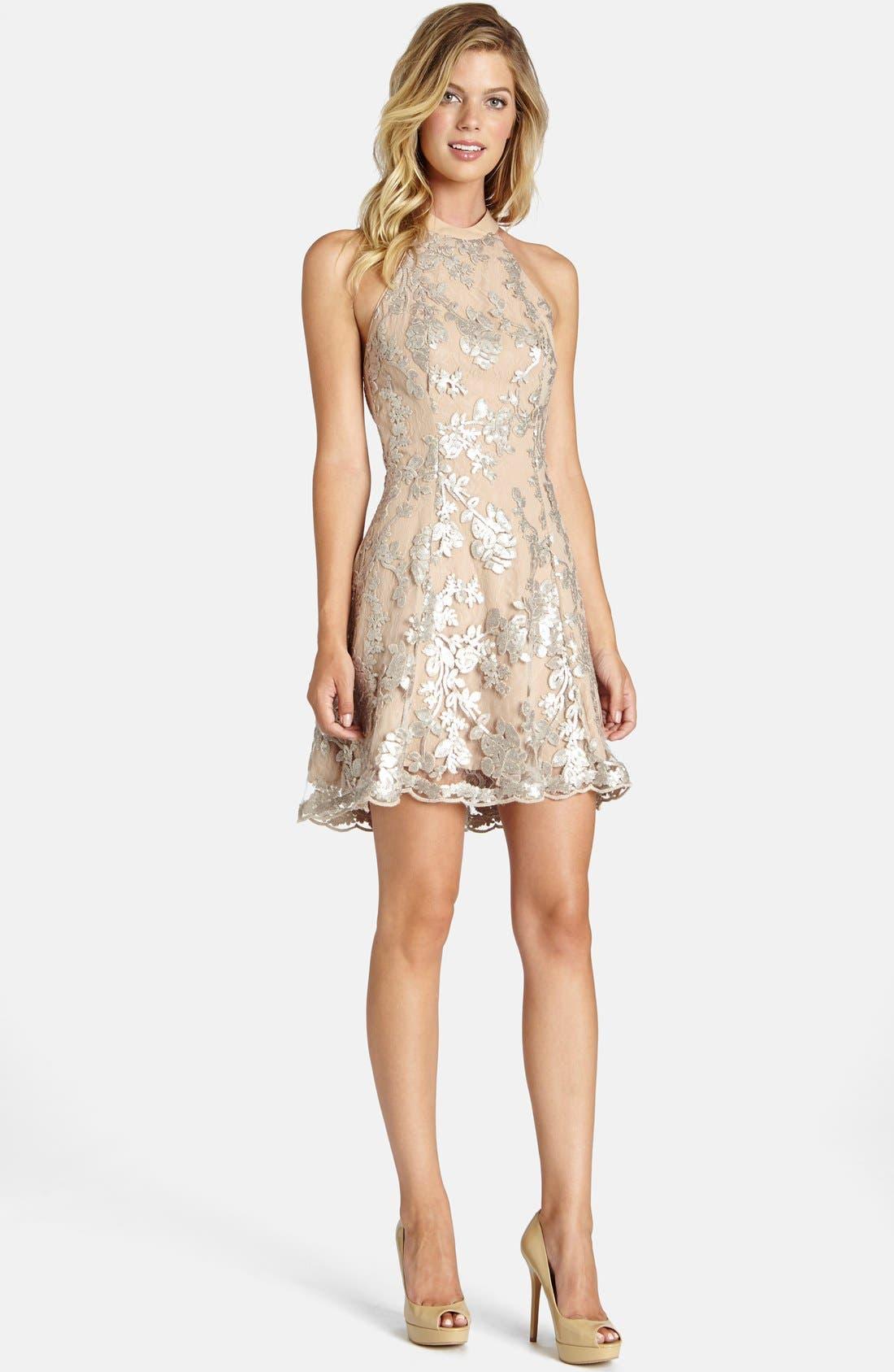 Alternate Image 3  - Dress the Population Abbie Minidress