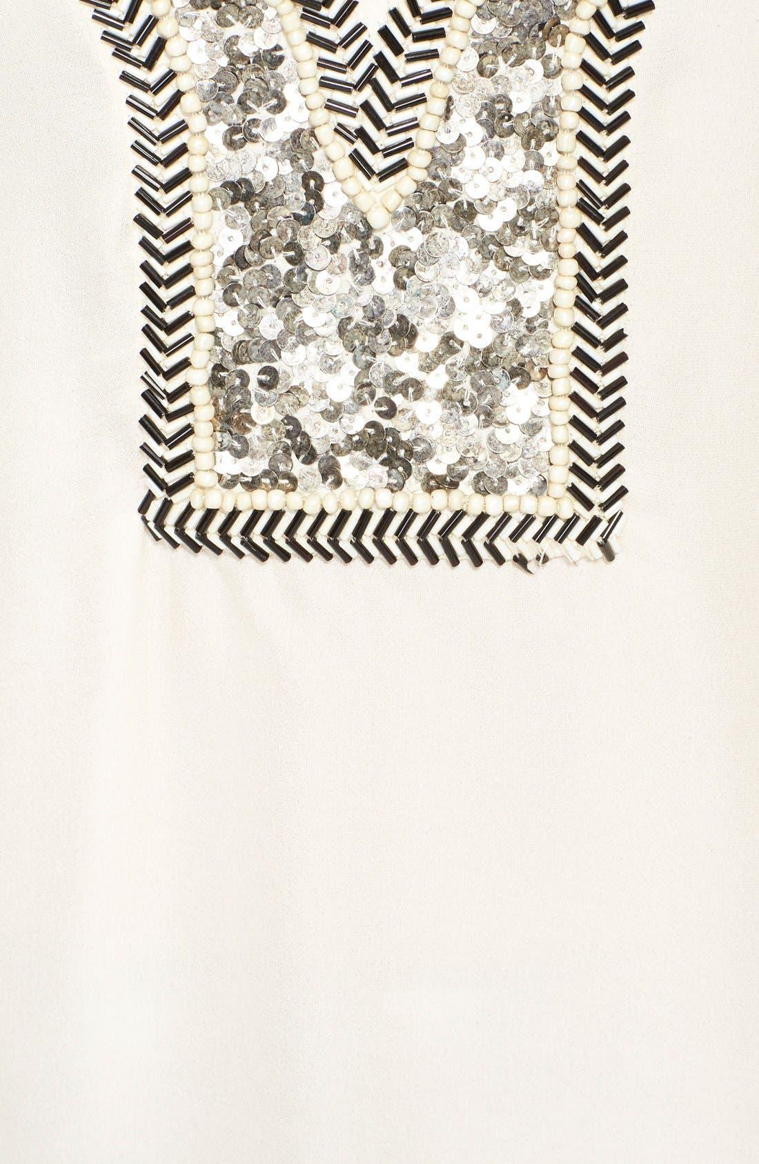 Alternate Image 3  - Haute Hippie Chevron Embellished V-Neck Silk Blouse