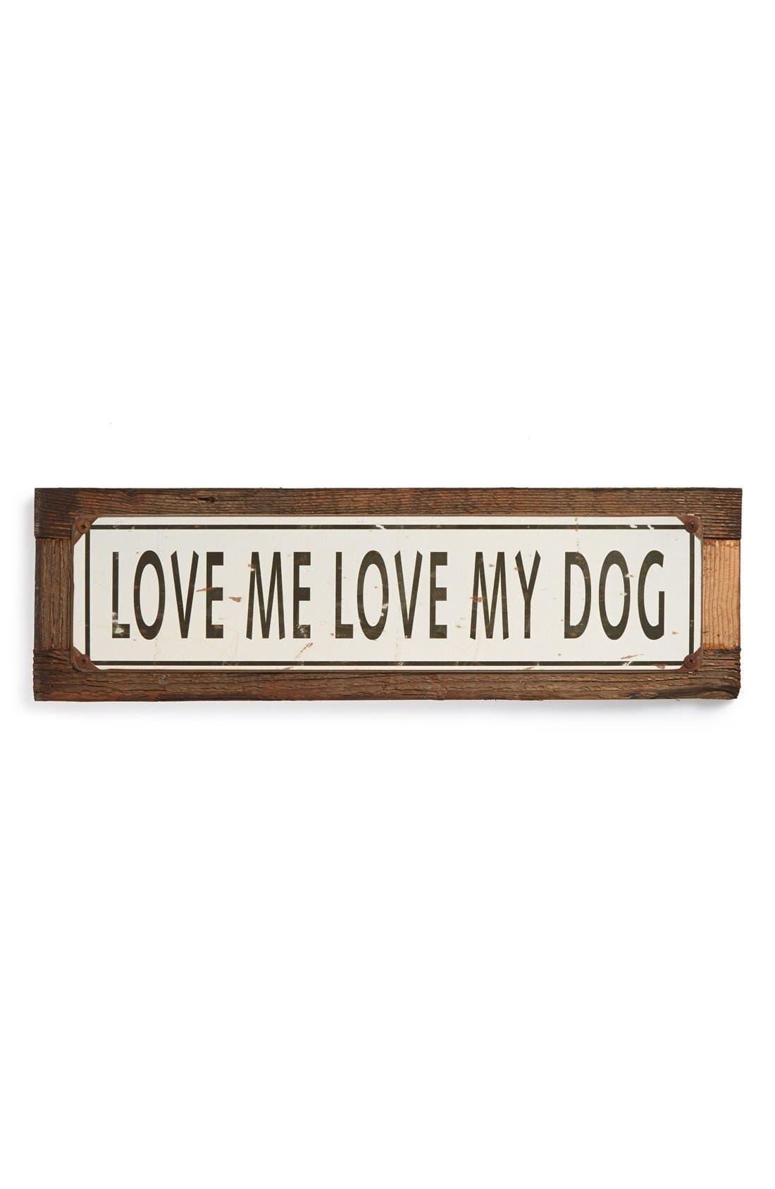 Main Image - Poncho & Goldstein 'Love Me Love My Dog' Sign