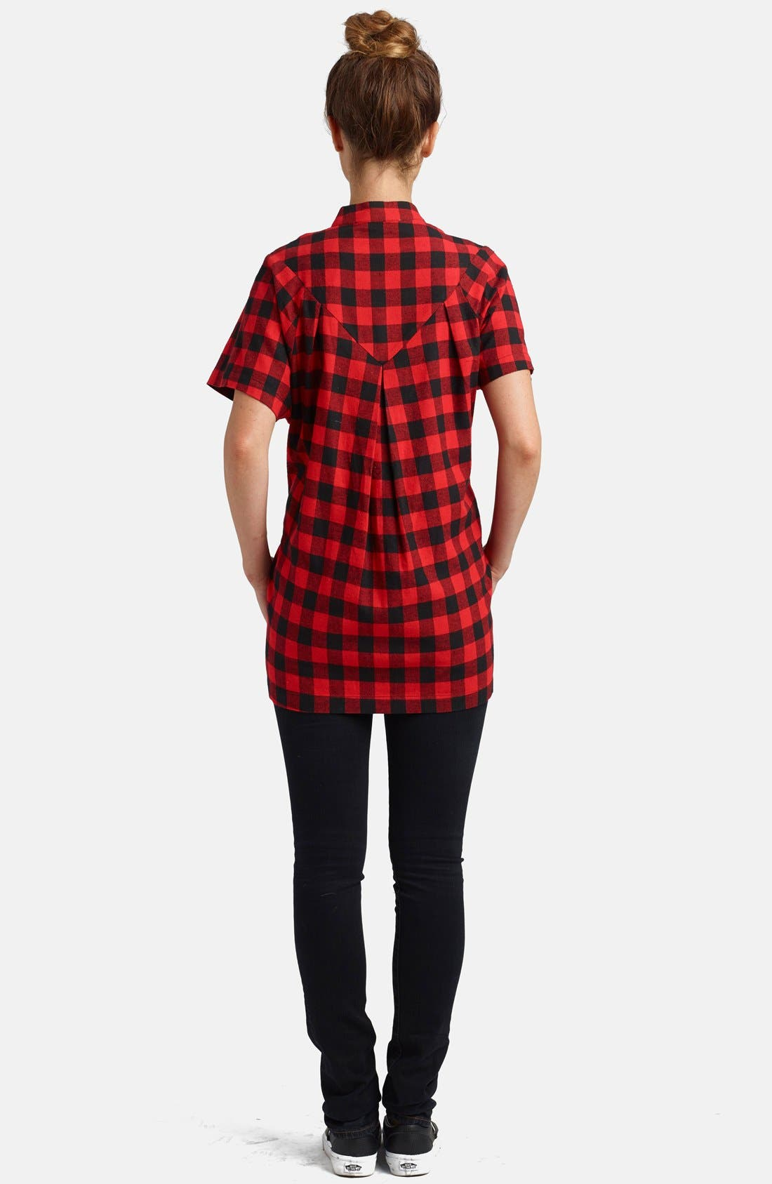 Alternate Image 2  - Loyal Hana Short Sleeve Flannel Maternity/Nursing Top