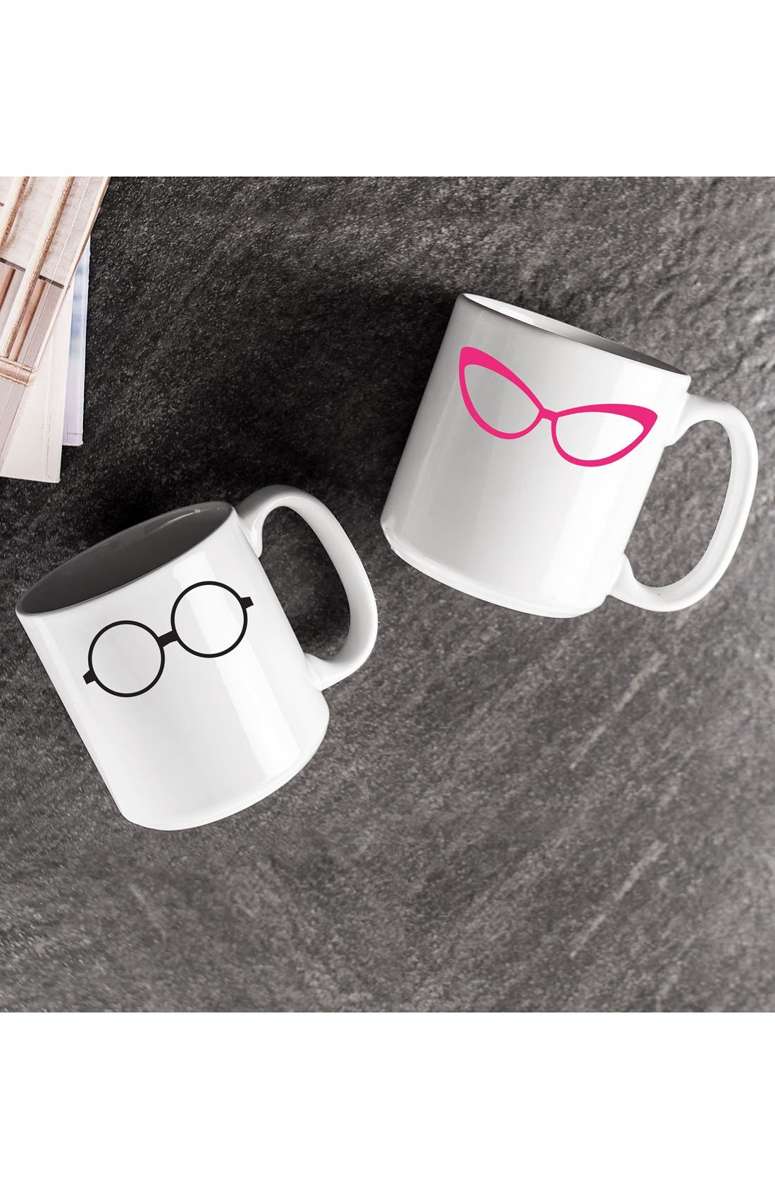 Alternate Image 2  - Cathy's Concepts 'Geek Glasses' Ceramic Coffee Mugs (Set of 2)