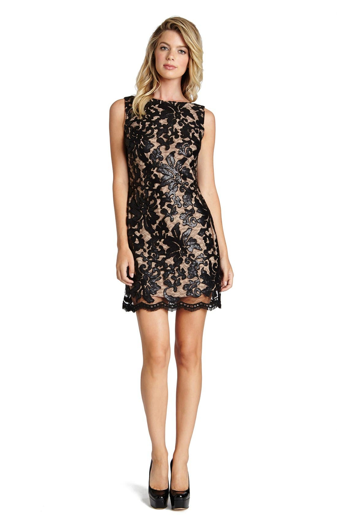 Alternate Image 1 Selected - Dress the Population Audrey Sequin Lace Dress