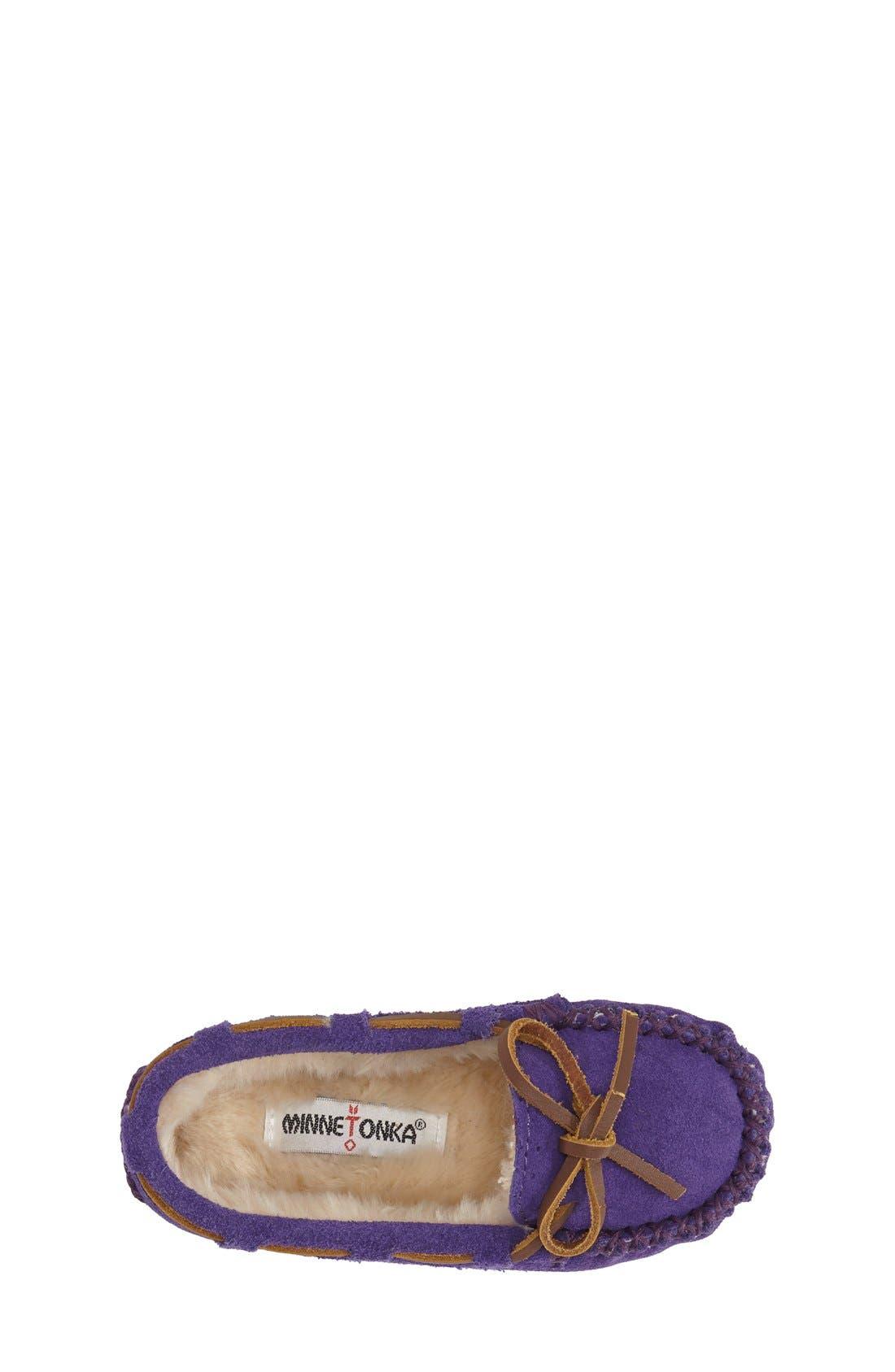 Kiltie Moccasin,                             Alternate thumbnail 3, color,                             Purple