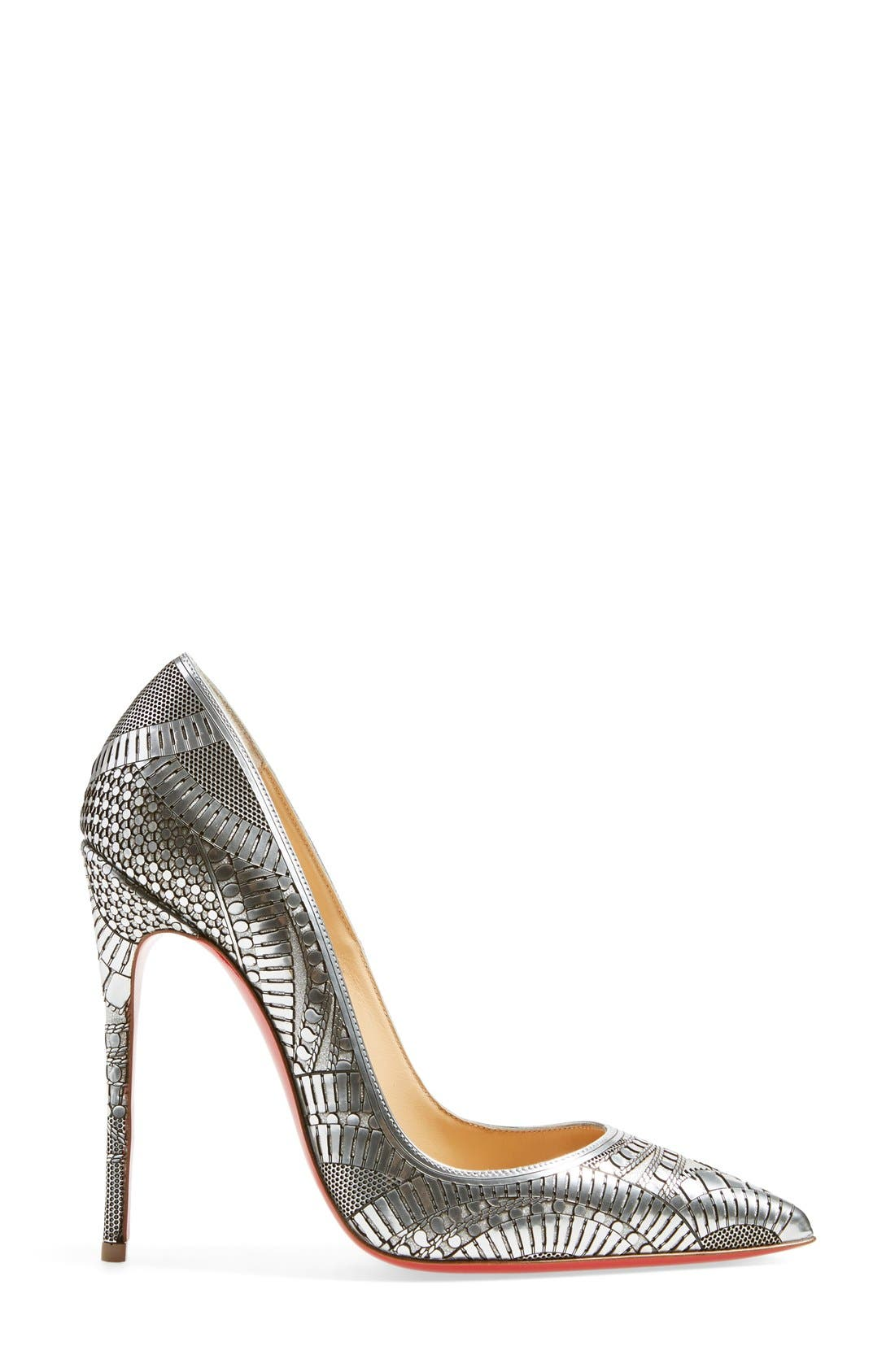 Alternate Image 4  - Christian Louboutin 'Kristali' Laser Cut Pointy Toe Pump