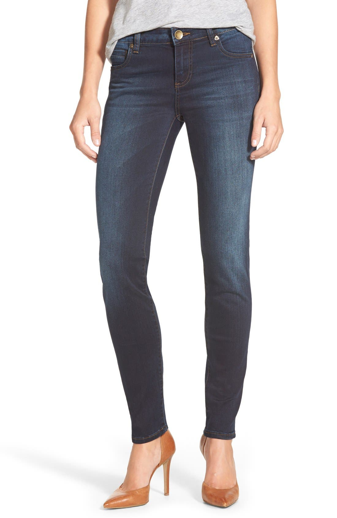 'Diana' Stretch Skinny Jeans,                             Main thumbnail 1, color,                             Breezy