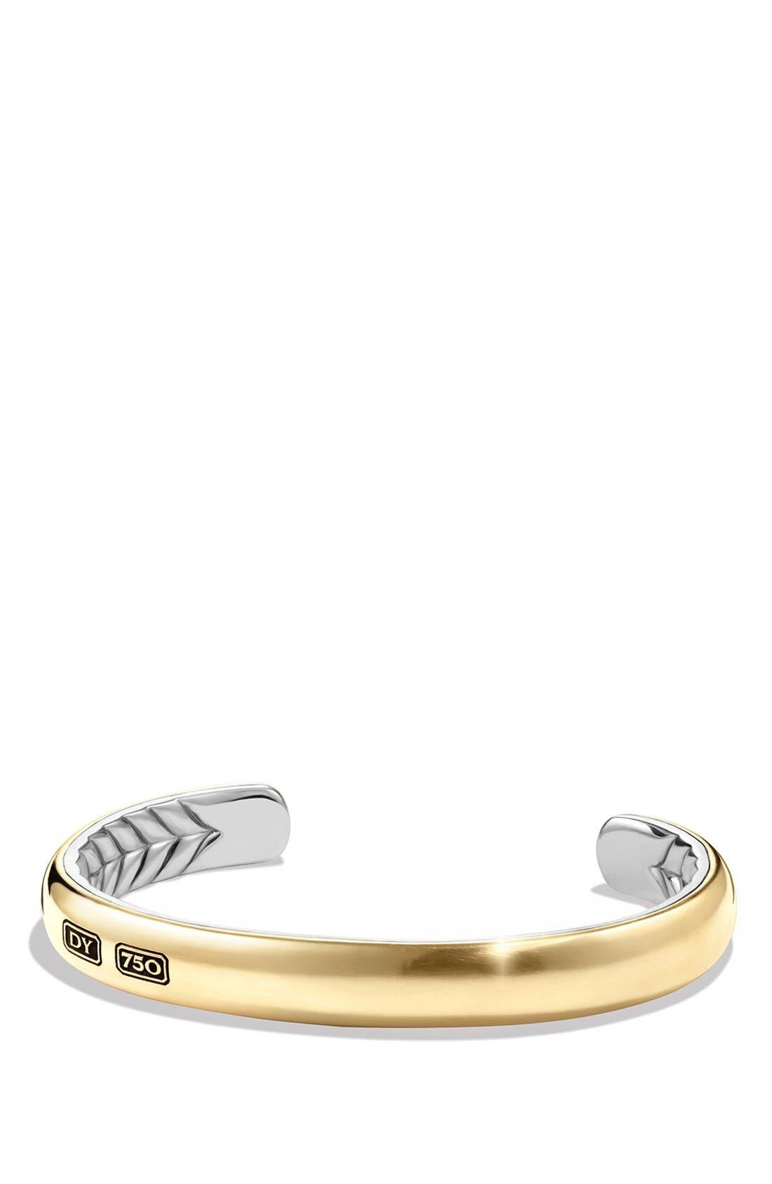 Alternate Image 1 Selected - David Yurman 'Streamline' Cuff Bracelet with 18K Gold
