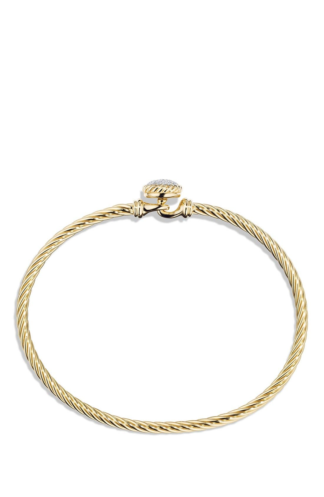 'Châtelaine' Bracelet with Diamonds in 18K Gold,                             Alternate thumbnail 2, color,                             Diamond