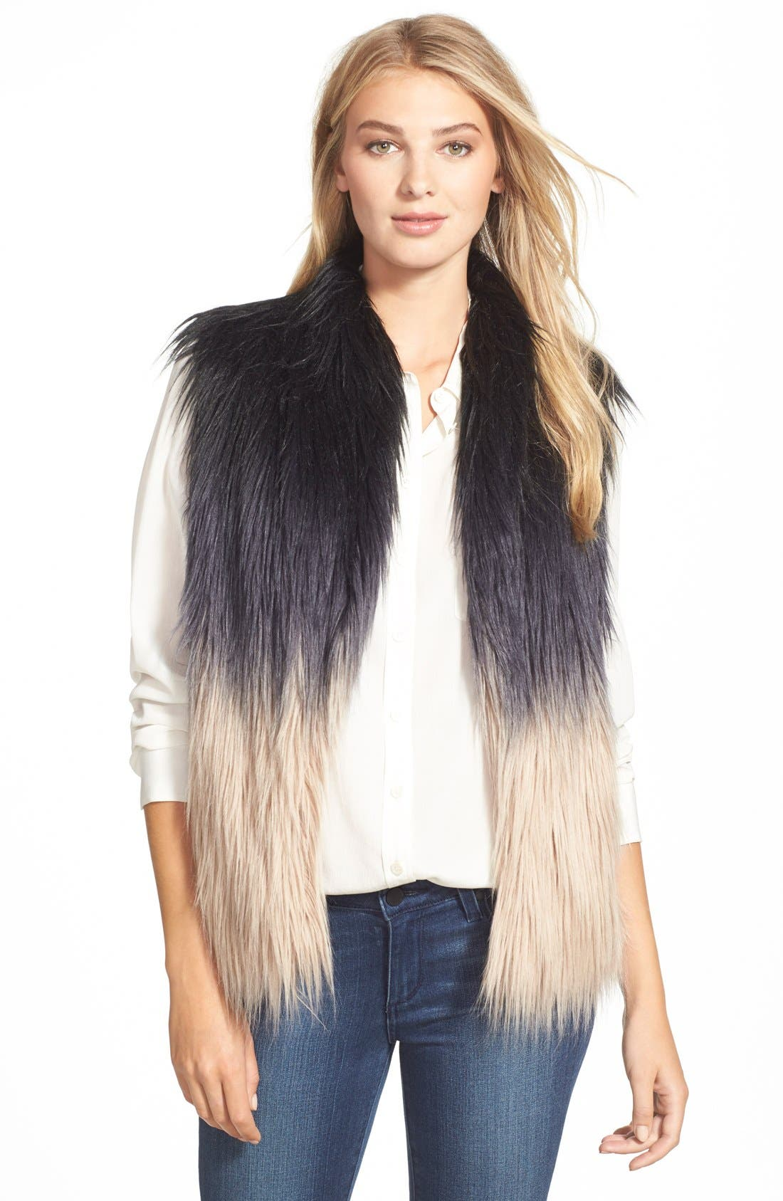 Main Image - Buffalo by David Bitton Ombré Faux Fur Vest