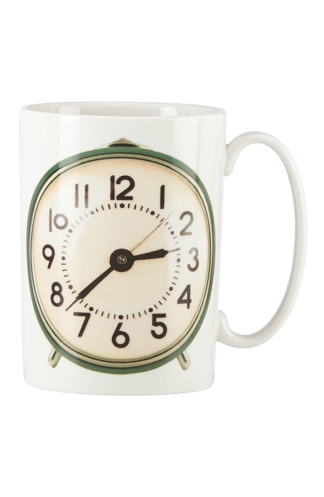 'snap happy - tic toc' porcelain mug,                             Main thumbnail 1, color,                             White/ Multi