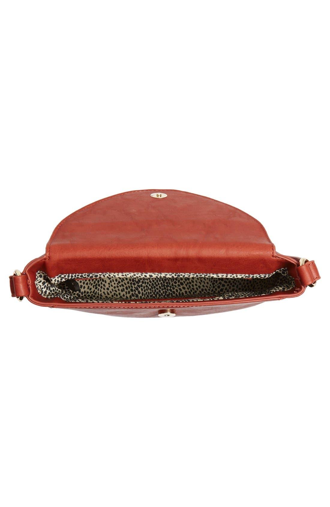 Alternate Image 4  - Sole Society 'Brady' Faux Leather Crossbody Bag