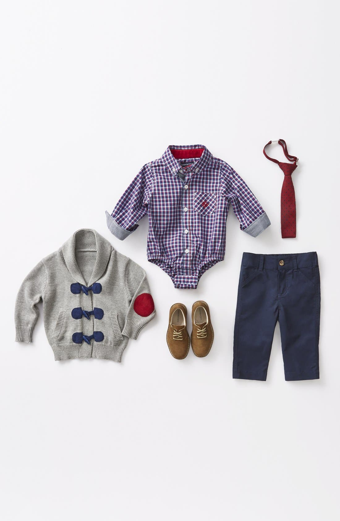 Alternate Image 3  - Andy & Evan Flat Front Twill Pants (Baby Boys)