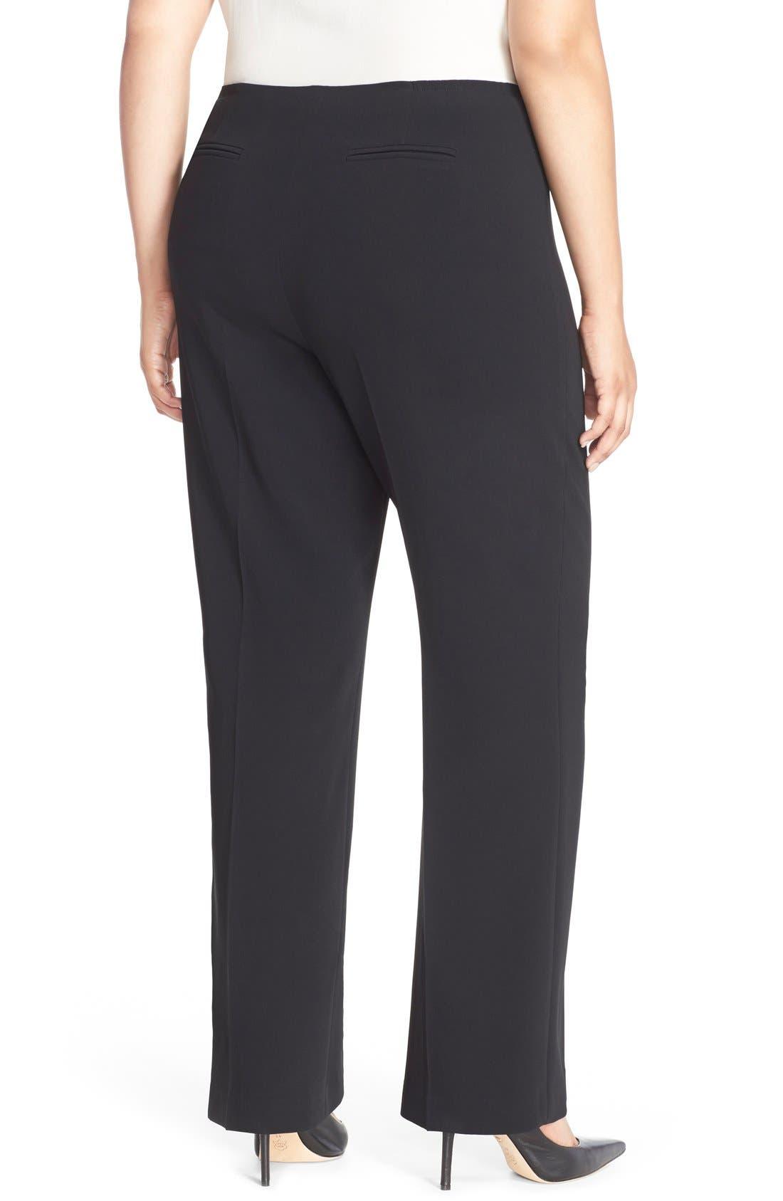Straight Leg Suit Pants,                             Alternate thumbnail 2, color,                             Black