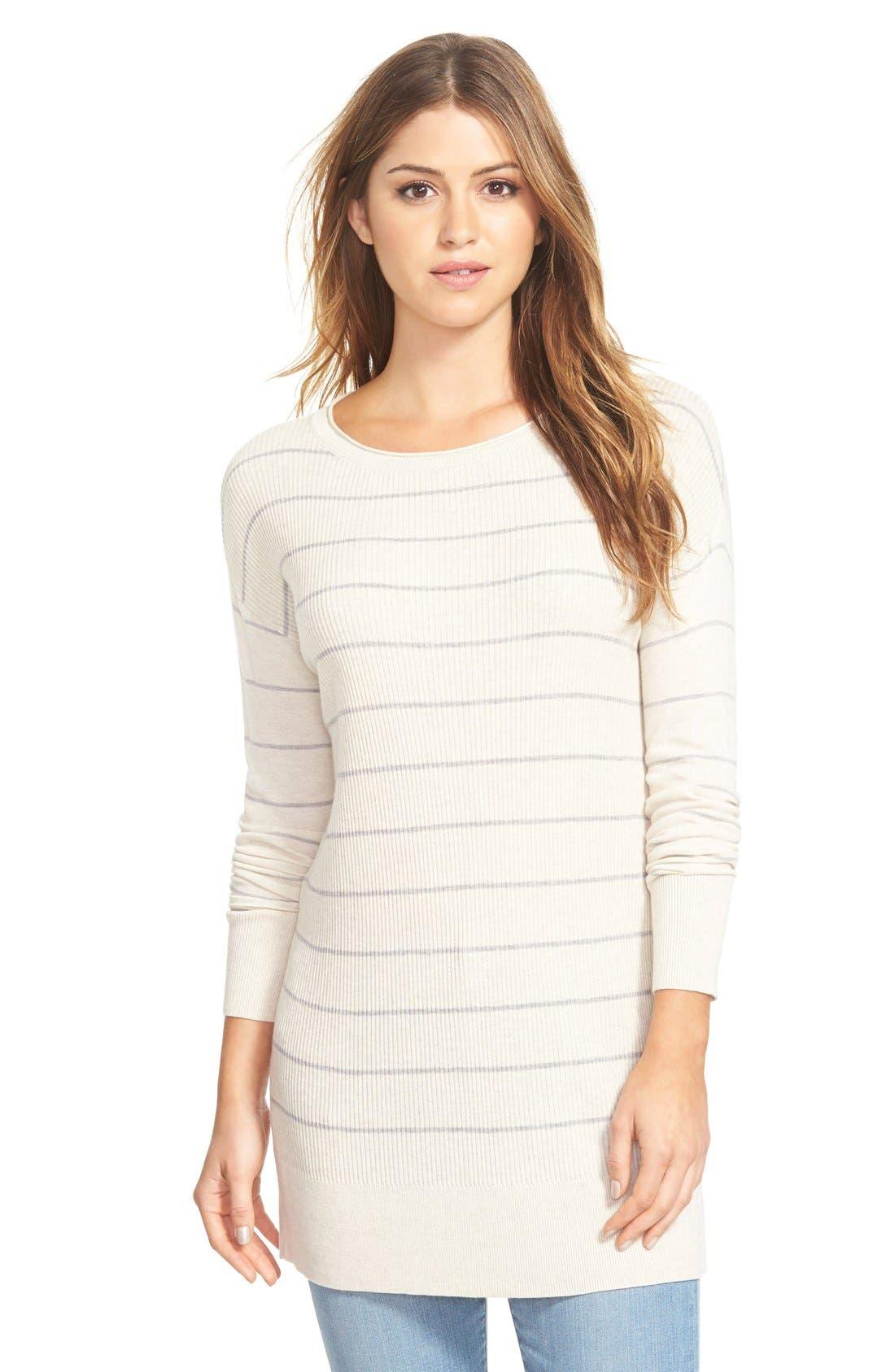 Caslon® Rib Knit Tunic Sweater (Regular & Petite) | Nordstrom