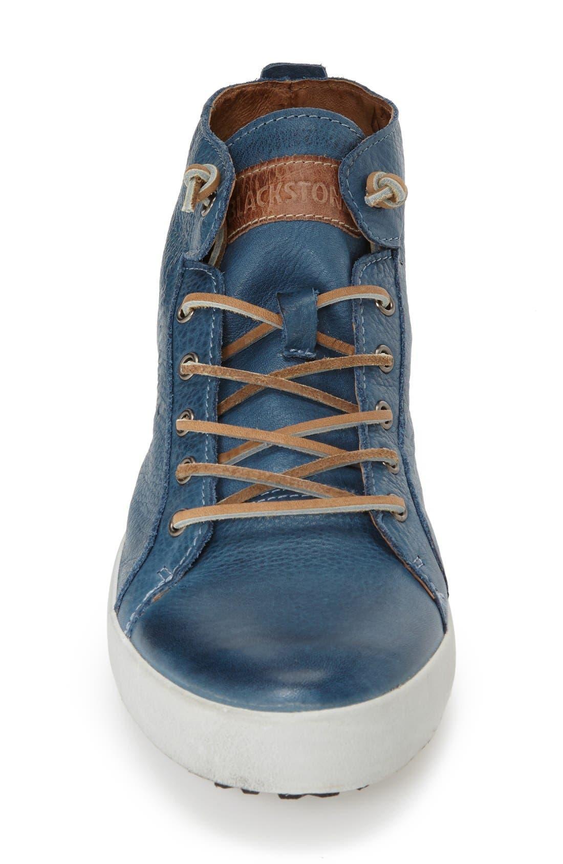 'JM03' Sneaker,                             Alternate thumbnail 4, color,                             Light Indigo Leather